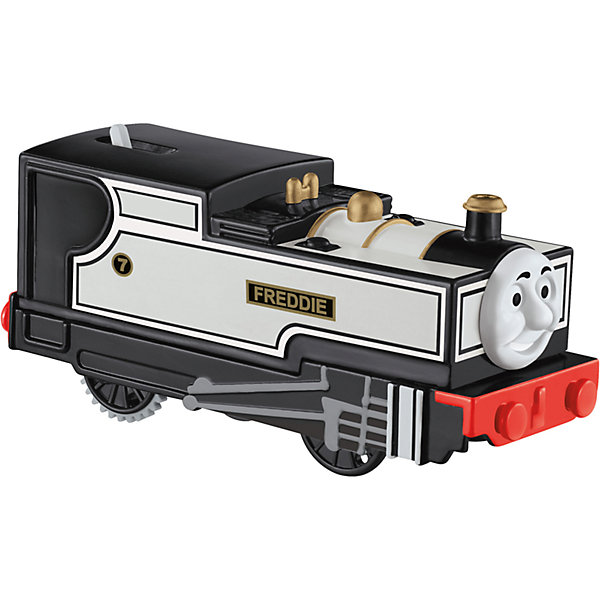 Моторизированный паровозик, Томас и его друзьяПопулярные игрушки<br>Железная дорога – увлекательная игра, знакомая многим родителям с детства. Моторизированные паровозики – новое слово техники в сфере детских игрушек. Томас , веселый паровозик, ездит по железной дороге вместе со своими друзьями. В наборе представлено 6 игрушек. Все модели упакованы в удобную картонную коробку, компактного размера, подходящую для хранения. Материалы, использованные при изготовлении игрушек, сертифицированы, полностью безопасны для детей и отвечают всем требованиям по качеству.<br><br>Дополнительная информация: <br><br>цвет: разноцветный;<br>возраст: 3+;<br>количество: 6 штук;<br>материал: высококачественный пластик.<br>Моторизированные паровозики «Томас и его друзья» от компании Mattel можно приобрести в нашем магазине<br><br>Ширина мм: 45<br>Глубина мм: 210<br>Высота мм: 140<br>Вес г: 166<br>Возраст от месяцев: 36<br>Возраст до месяцев: 120<br>Пол: Унисекс<br>Возраст: Детский<br>SKU: 5004516