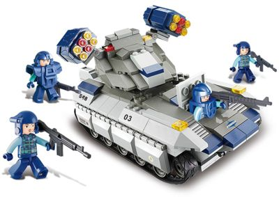 Конструктор Военный спецназ: Танк с ракетной установкой , Sluban