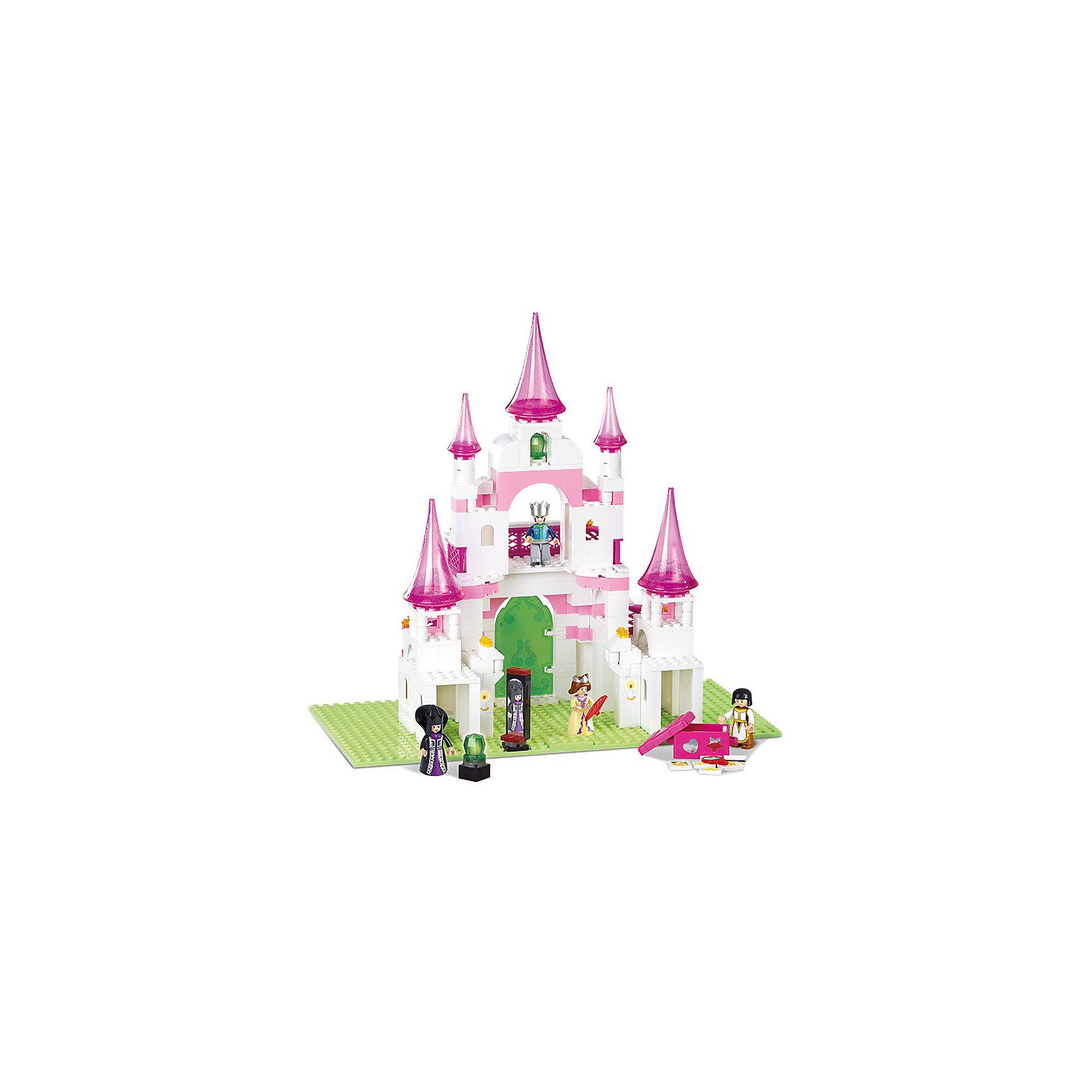Конструктор Розовая мечта: Замок принцессы, SlubanКонструкторы для девочек<br>В наборе: четырехэтажный замок, мебель, фигурки людей, фигурка принца на белом коне, 271 деталь<br><br>Ширина мм: 360<br>Глубина мм: 260<br>Высота мм: 60<br>Вес г: 980<br>Возраст от месяцев: 72<br>Возраст до месяцев: 1188<br>Пол: Женский<br>Возраст: Детский<br>SKU: 5005648