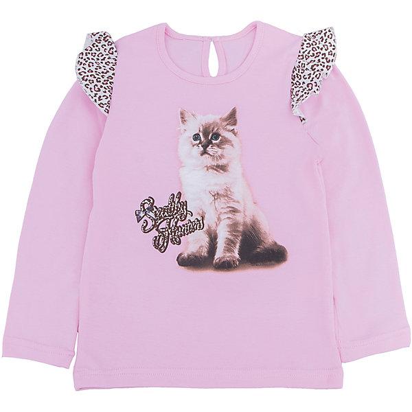 Футболка с длинным рукавом для девочки АпрельФутболки с длинным рукавом<br>Футболка с длинным рукавом для девочки Апрель.<br><br>Характеристики:<br>• состав: 100% хлопок<br>• цвет: розовый<br>• коллекция: Забавные котята<br><br>Очаровательная футболка из коллекции Забавные котята (Апрель) изготовлена из стопроцентного хлопкового полотна. Она имеет круглый ворот, длинный рукав и расширенный к низу силуэт. Сзади модель застегивается на пуговицу. Футболка розового цвета украшена леопардовыми рюшами на рукавах. Спереди модель декорирована принтом с милым котенком. Эта футболка придется по вкусу начинающей моднице!<br><br>Футболку с длинным рукавом Апрель можно купить в нашем интернет-магазине.<br>Ширина мм: 230; Глубина мм: 40; Высота мм: 220; Вес г: 250; Цвет: розовый; Возраст от месяцев: 24; Возраст до месяцев: 36; Пол: Женский; Возраст: Детский; Размер: 98,110,92,86,116,104; SKU: 5006832;
