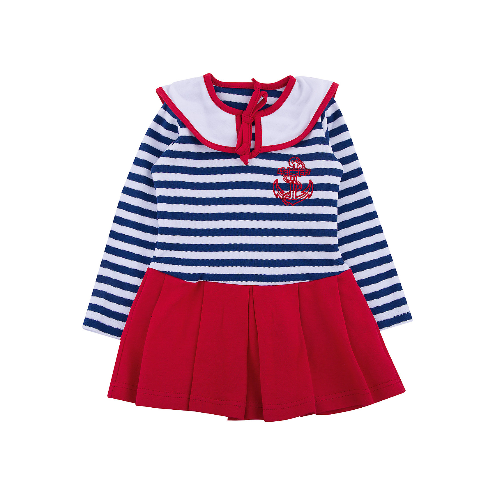 Платье для девочки АпрельПлатья и сарафаны<br>Платье для девочки Апрель.<br><br>Характеристики:<br><br>• 100% хлопок<br>• рукав: длинный<br>• коллекция: Круиз<br>• цвет: синий/красный<br><br><br>Стильное платье Апрель на морскую тематику понравится каждой девочке. Оно изготовлено из качественного хлопка, приятного на ощупь и отлично сидит по фигуре. Необычный дизайн платья включает в себя: подол с оборками, верх в полоску, нагрудник с завязками и вышивка на груди. Контрастный дизайн подола завершает оригинальный образ девочки. Платье отлично подойдет и на каждый день, и на костюмированную вечеринку.<br><br>Платье для девочки Апрель вы можете купить в нашем интернет-магазине.<br><br>Ширина мм: 236<br>Глубина мм: 16<br>Высота мм: 184<br>Вес г: 177<br>Цвет: разноцветный<br>Возраст от месяцев: 18<br>Возраст до месяцев: 24<br>Пол: Женский<br>Возраст: Детский<br>Размер: 92,116,92,98,104,110<br>SKU: 5006857