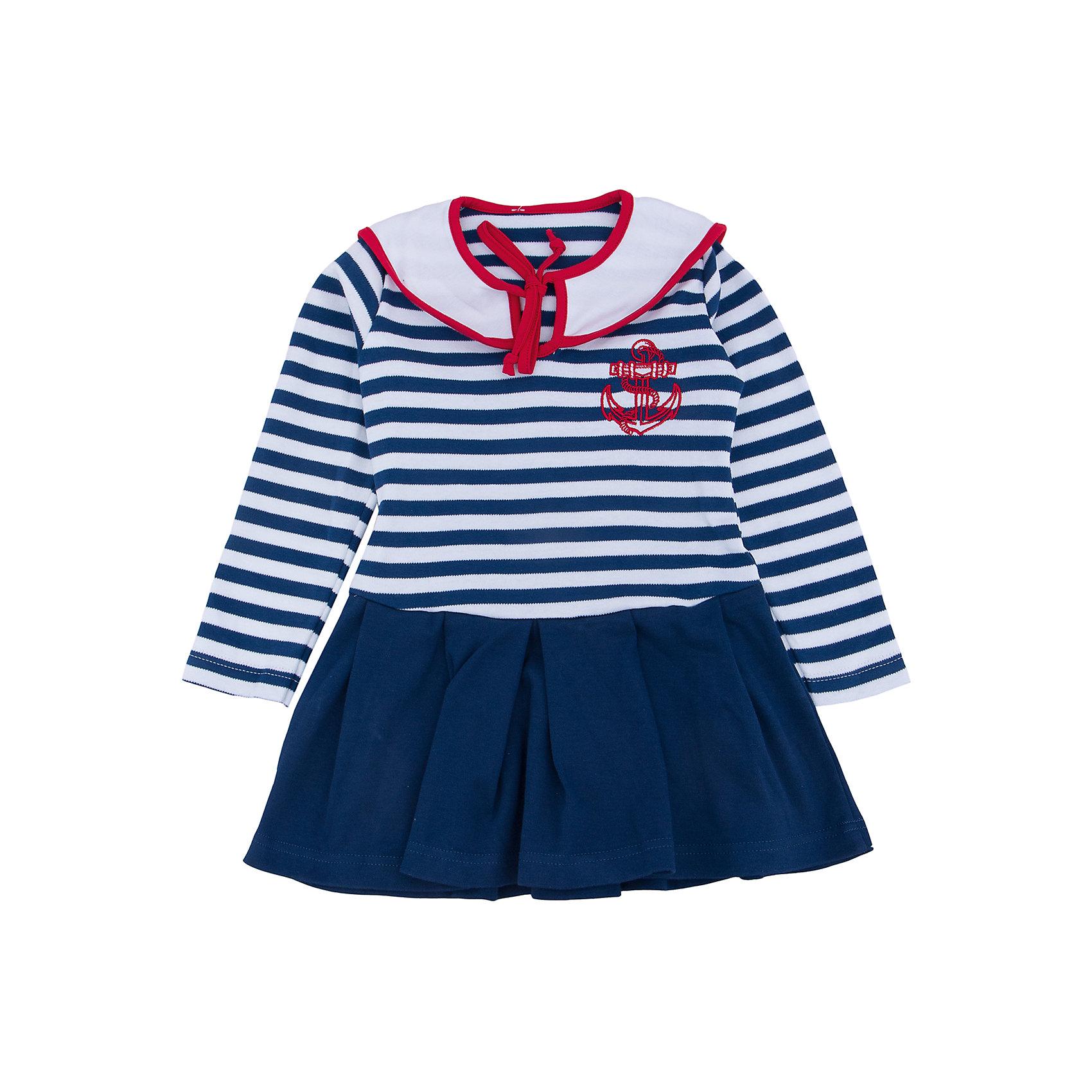 Платье для девочки АпрельПлатье для девочки Апрель.<br><br>Характеристики:<br><br>• 100% хлопок<br>• рукав: длинный<br>• коллекция: Круиз<br>• цвет: синий<br><br><br>Стильное платье Апрель на морскую тематику понравится каждой девочке. Оно изготовлено из качественного хлопка, приятного на ощупь и отлично сидит по фигуре. Необычный дизайн платья включает в себя: подол с оборками, верх в полоску, нагрудник с завязками и вышивка на груди. Платье отлично подойдет и на каждый день, и на костюмированную вечеринку.<br><br>Платье для девочки Апрель вы можете купить в нашем интернет-магазине.<br><br>Ширина мм: 236<br>Глубина мм: 16<br>Высота мм: 184<br>Вес г: 177<br>Цвет: синий<br>Возраст от месяцев: 18<br>Возраст до месяцев: 24<br>Пол: Женский<br>Возраст: Детский<br>Размер: 92,98,104,110,116<br>SKU: 5006864