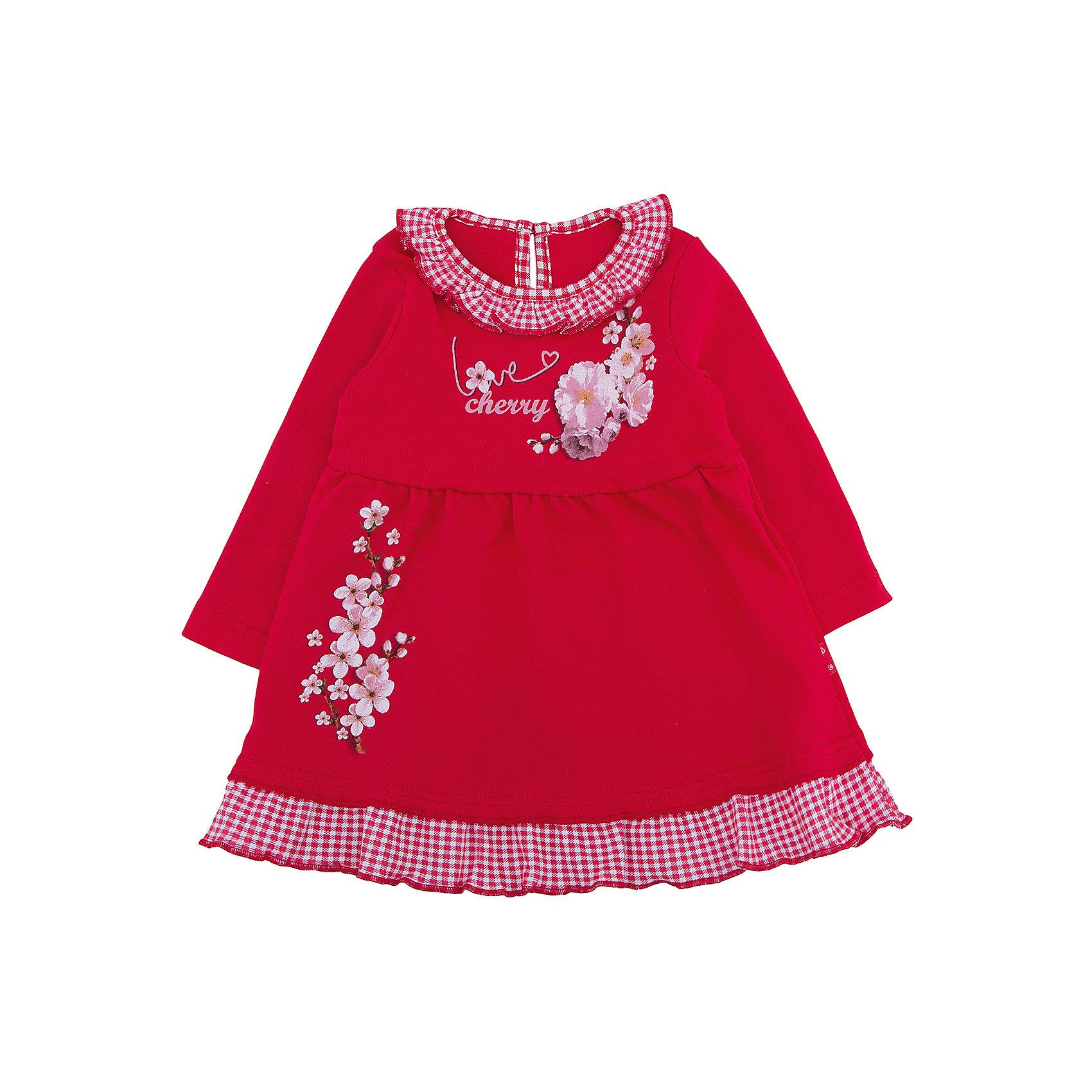 Платье для девочки АпрельПлатье для девочки от известного бренда Апрель.<br>Прелестное платье выполнено из мягкого хлопка. Приятное на ощупь, не сковывает движения, обеспечивая наибольший комфорт. Изделие с длинными рукавами, украшено оборочками и дизайнерским принтом. Незаменимый предмет детского гардероба! Рекомендуется машинная стирка при температуре 40 градусов без предварительного замачивания.<br>Состав:<br>хлопок 100%<br><br>Ширина мм: 236<br>Глубина мм: 16<br>Высота мм: 184<br>Вес г: 177<br>Цвет: красный<br>Возраст от месяцев: 6<br>Возраст до месяцев: 9<br>Пол: Женский<br>Возраст: Детский<br>Размер: 74,80,86,92,98<br>SKU: 5006918
