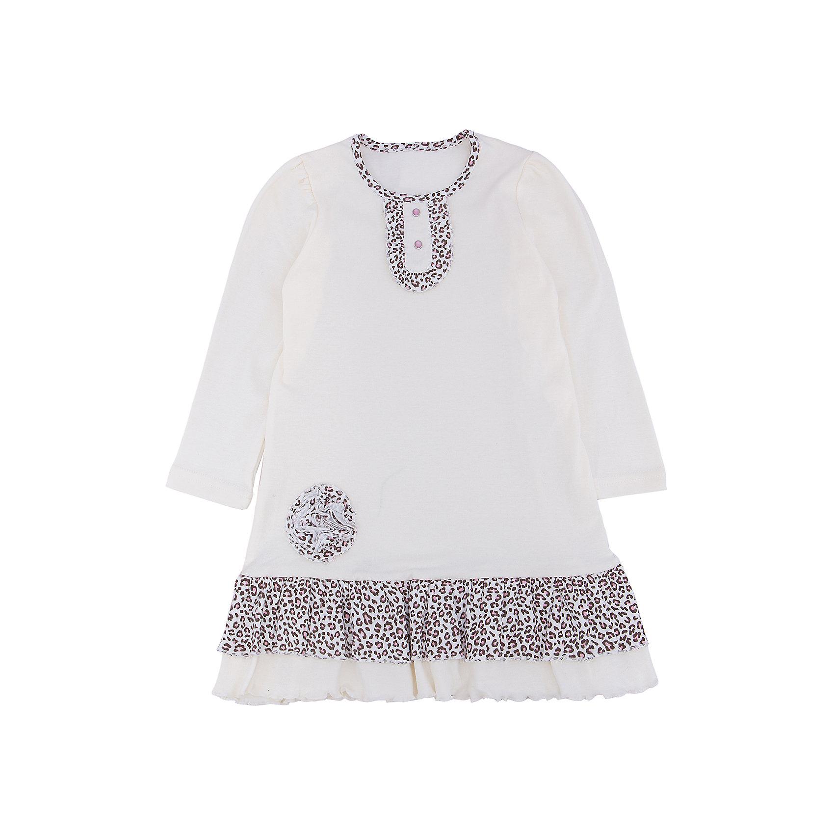 Платье для девочки АпрельПлатье для девочки Апрель.<br><br>Характеристики:<br><br>• состав: 100% хлопок<br>• цвет: белый<br>• коллекция: Забавные котята<br><br>Очаровательное платье Апрель порадует любителей стиля и простоты. Платье белого цвета имеет вставки леопардового цвета на вороте и подоле. Декорировано леопардовым цветком и рюшами. Это прелестное платье должно быть в гардеробе каждой модницы!<br><br>Платье для девочки Апрель вы можете купить в нашем интернет-магазине.<br><br>Ширина мм: 236<br>Глубина мм: 16<br>Высота мм: 184<br>Вес г: 177<br>Цвет: белый<br>Возраст от месяцев: 24<br>Возраст до месяцев: 36<br>Пол: Женский<br>Возраст: Детский<br>Размер: 98,92,86,110,116,104<br>SKU: 5006931
