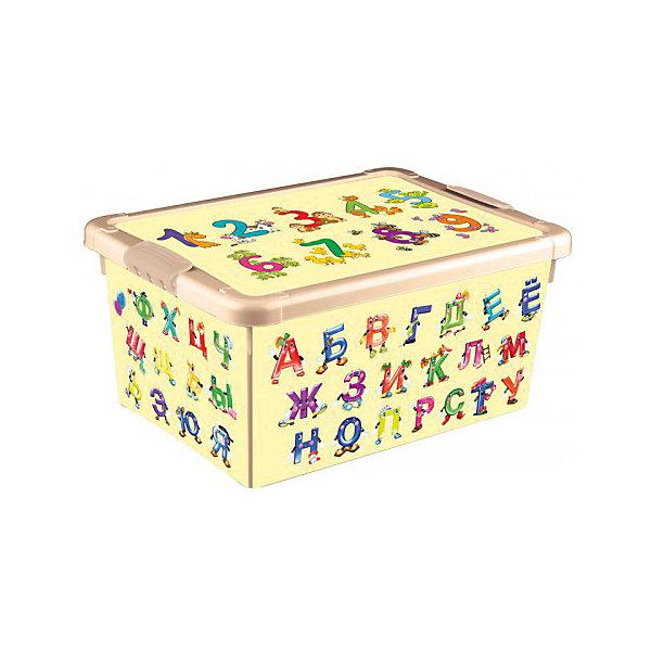Ящик для игрушек Алфавит и цифры 335*240*155, Бытпласт, бежевыйЯщики для игрушек<br>Ящик для игрушек Алфавит и буквы позволит приучить ребенка к порядку и аккуратности.Контейнер изготовлен из качественного пластика, не токсичен для малышей. Вместительный, но в тоже время очень компактный ящик с крышечкой. Подойдет для упаковки игрушек, одежды, аксессуаров. А так же иллюстрация букв и цифр на ящике позволит быстро их запомнить.<br><br>Характеристика:<br>-Размер: 33,5х24Х15,5 см<br>-Материал: бытпласт<br>-Цвет: бежевый<br><br>Ящик для игрушек Алфавит и буквы можно приобрести в нашем интернет-магазине.<br>Ширина мм: 240; Глубина мм: 155; Высота мм: 335; Вес г: 740; Возраст от месяцев: 24; Возраст до месяцев: 72; Пол: Унисекс; Возраст: Детский; SKU: 5007007;