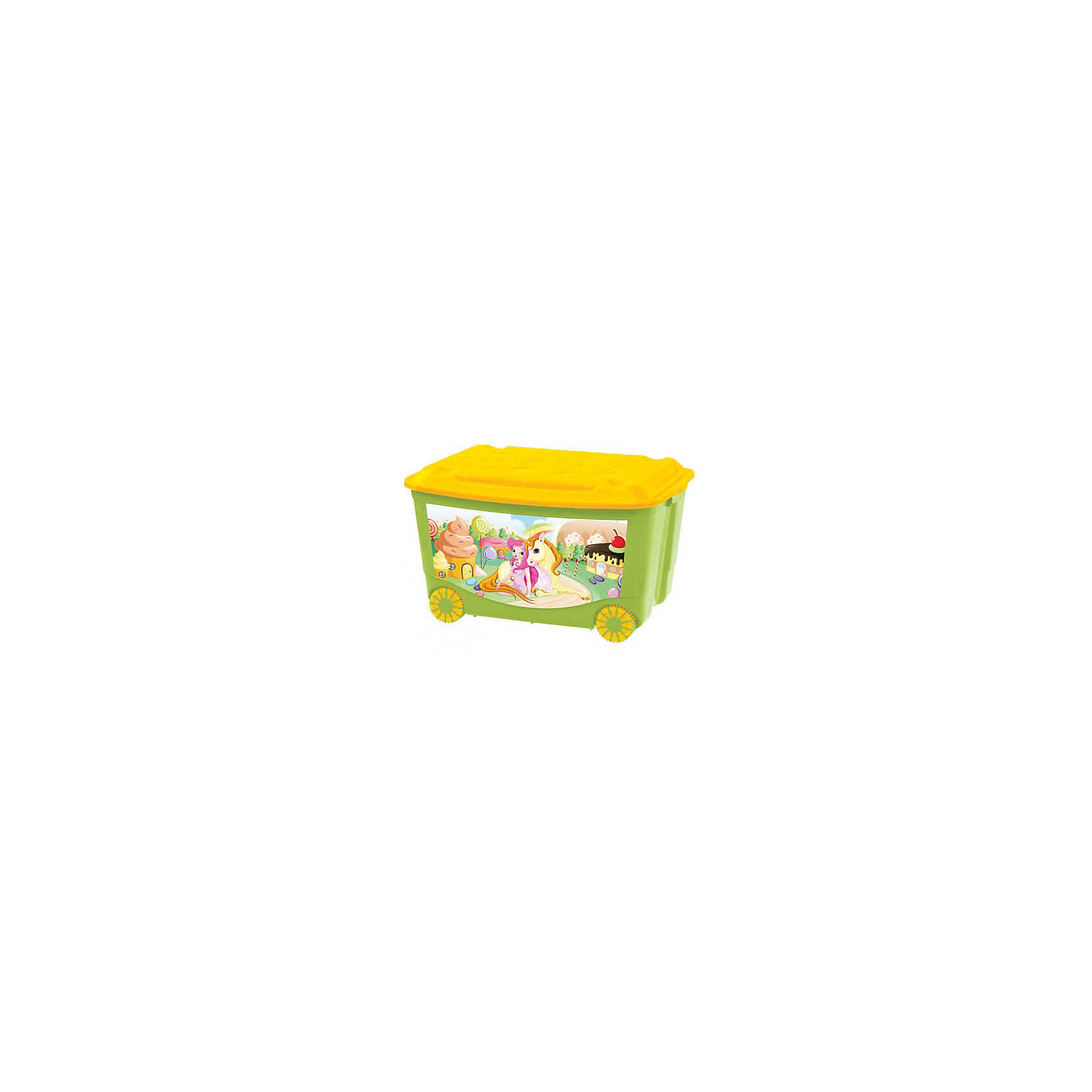 Ящик для игрушек на колесах 580*390*335, Бытпласт, зеленыйЯщик для игрушек на колесиках позволит приучить ребенка к уборке.Контейнер изготовлен из качественного пластика, не токсичен для малышей. Вместительный, но в тоже время очень компактный ящик с крышечкой. Подойдет для упаковки игрушек, одежды, аксессуаров. Благодаря колесикам легко перемещается по комнате. Легкое скольжение позволит малышу самому привозить и увозить ящик.<br><br>Характеристика:<br>-Размер: 58х39Х33,5 см<br>-Материал: бытпласт<br>-Цвет: зелёный<br><br>Ящик для игрушек на колесиках можно приобрести в нашем интернет-магазине.<br><br>Ширина мм: 580<br>Глубина мм: 390<br>Высота мм: 335<br>Вес г: 1900<br>Возраст от месяцев: 24<br>Возраст до месяцев: 72<br>Пол: Унисекс<br>Возраст: Детский<br>SKU: 5007011