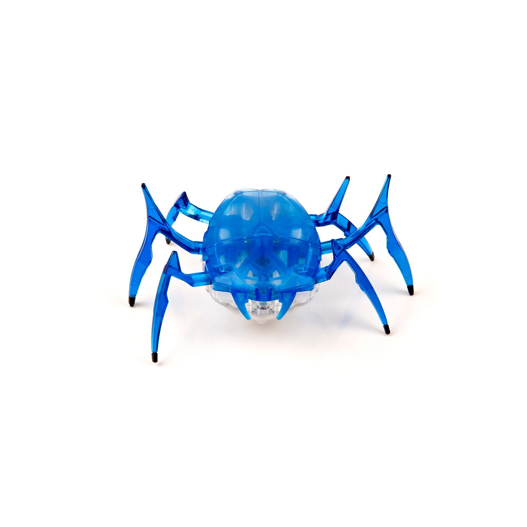 Микро-робот Жук Скарабей, синий, HexbugИнтерактивные животные<br>Наноробот Hexbug Жук Скарабей.<br><br>Характеристики электронной игрушки Hexbug:<br><br>• строение тела: крупное овальное тело, выпуклое сверху и снизу;<br>• количество лап: 3 пары;<br>• специальная конструкция лапок для достижение максимальной скорости;<br>• передвигается только на своих лапках;<br>• супербыстрый наноробот, присутствует агрессивность;<br>• 12 передач и мощнейший моторчик – 1220 раз в минуту жук Скарабей передвигает лапками;<br>• специальный привод, случайность траектории движения;<br>• при встрече с препятствием: мелкий предмет отодвигает лапками, от большого предмета отпрыгивает в поисках новой траектории движения;<br>• при падении на спину жук Hexbug Nano переворачивается на лапки;<br>• размер скарабея: 8,2х4,1х5,7 см;<br>• вес наноробота: 28,5 г.<br><br>Современные и технологичные электронные игрушки Hexbug Nano – это скоростные жуки Скарабеи, быстрые, шустрые, умные. Бегают по случайно выбранной траектории, отталкиваются и переворачиваются после падения. Настоящий прорыв в области подвижных микро-роботов!<br><br>Микро-робот Жук Скарабей, синий, Hexbug можно купить в нашем интернет-магазине.<br><br>Ширина мм: 6<br>Глубина мм: 13<br>Высота мм: 11<br>Вес г: 47<br>Возраст от месяцев: 36<br>Возраст до месяцев: 2147483647<br>Пол: Унисекс<br>Возраст: Детский<br>SKU: 5007079