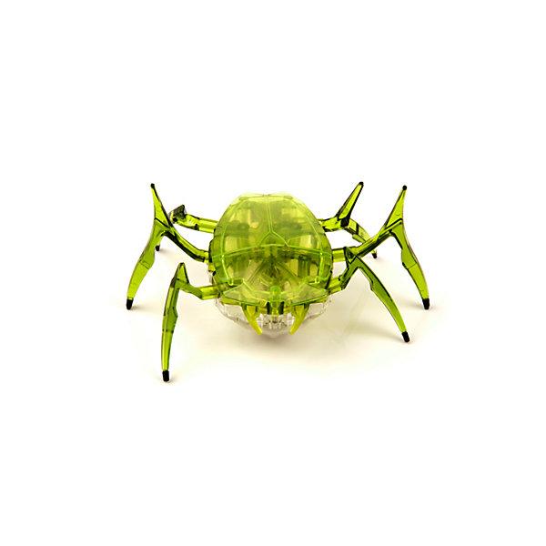 Микро-робот Жук Скарабей, зеленый, HexbugИнтерактивные животные<br>Наноробот Hexbug Жук Скарабей.<br><br>Характеристики электронной игрушки Hexbug:<br><br>• строение тела: крупное овальное тело, выпуклое сверху и снизу;<br>• количество лап: 3 пары;<br>• специальная конструкция лапок для достижение максимальной скорости;<br>• передвигается только на своих лапках;<br>• супербыстрый наноробот, присутствует агрессивность;<br>• 12 передач и мощнейший моторчик – 1220 раз в минуту жук Скарабей передвигает лапками;<br>• специальный привод, случайность траектории движения;<br>• при встрече с препятствием: мелкий предмет отодвигает лапками, от большого предмета отпрыгивает в поисках новой траектории движения;<br>• при падении на спину жук Hexbug Nano переворачивается на лапки;<br>• размер скарабея: 8,2х4,1х5,7 см;<br>• вес наноробота: 28,5 г.<br><br>Современные и технологичные электронные игрушки Hexbug Nano – это скоростные жуки Скарабеи, быстрые, шустрые, умные. Бегают по случайно выбранной траектории, отталкиваются и переворачиваются после падения. Настоящий прорыв в области подвижных микро-роботов!<br><br>Микро-робот Жук Скарабей, зеленый, Hexbug можно купить в нашем интернет-магазине.<br>Ширина мм: 6; Глубина мм: 13; Высота мм: 11; Вес г: 47; Возраст от месяцев: 36; Возраст до месяцев: 2147483647; Пол: Унисекс; Возраст: Детский; SKU: 5007081;