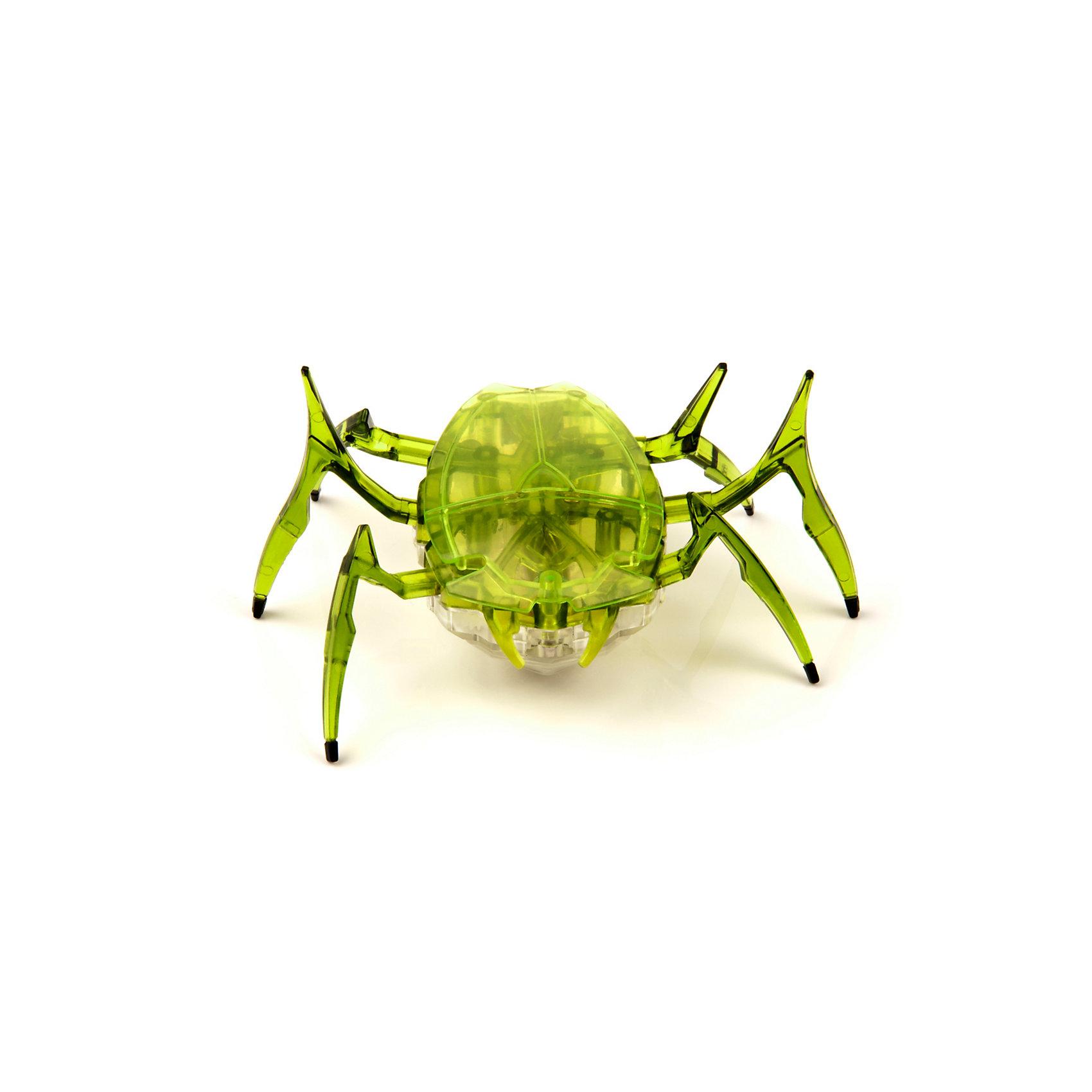 Микро-робот Жук Скарабей, зеленый, HexbugНаноробот Hexbug Жук Скарабей.<br><br>Характеристики электронной игрушки Hexbug:<br><br>• строение тела: крупное овальное тело, выпуклое сверху и снизу;<br>• количество лап: 3 пары;<br>• специальная конструкция лапок для достижение максимальной скорости;<br>• передвигается только на своих лапках;<br>• супербыстрый наноробот, присутствует агрессивность;<br>• 12 передач и мощнейший моторчик – 1220 раз в минуту жук Скарабей передвигает лапками;<br>• специальный привод, случайность траектории движения;<br>• при встрече с препятствием: мелкий предмет отодвигает лапками, от большого предмета отпрыгивает в поисках новой траектории движения;<br>• при падении на спину жук Hexbug Nano переворачивается на лапки;<br>• размер скарабея: 8,2х4,1х5,7 см;<br>• вес наноробота: 28,5 г.<br><br>Современные и технологичные электронные игрушки Hexbug Nano – это скоростные жуки Скарабеи, быстрые, шустрые, умные. Бегают по случайно выбранной траектории, отталкиваются и переворачиваются после падения. Настоящий прорыв в области подвижных микро-роботов!<br><br>Микро-робот Жук Скарабей, зеленый, Hexbug можно купить в нашем интернет-магазине.<br><br>Ширина мм: 6<br>Глубина мм: 13<br>Высота мм: 11<br>Вес г: 47<br>Возраст от месяцев: 36<br>Возраст до месяцев: 2147483647<br>Пол: Унисекс<br>Возраст: Детский<br>SKU: 5007081