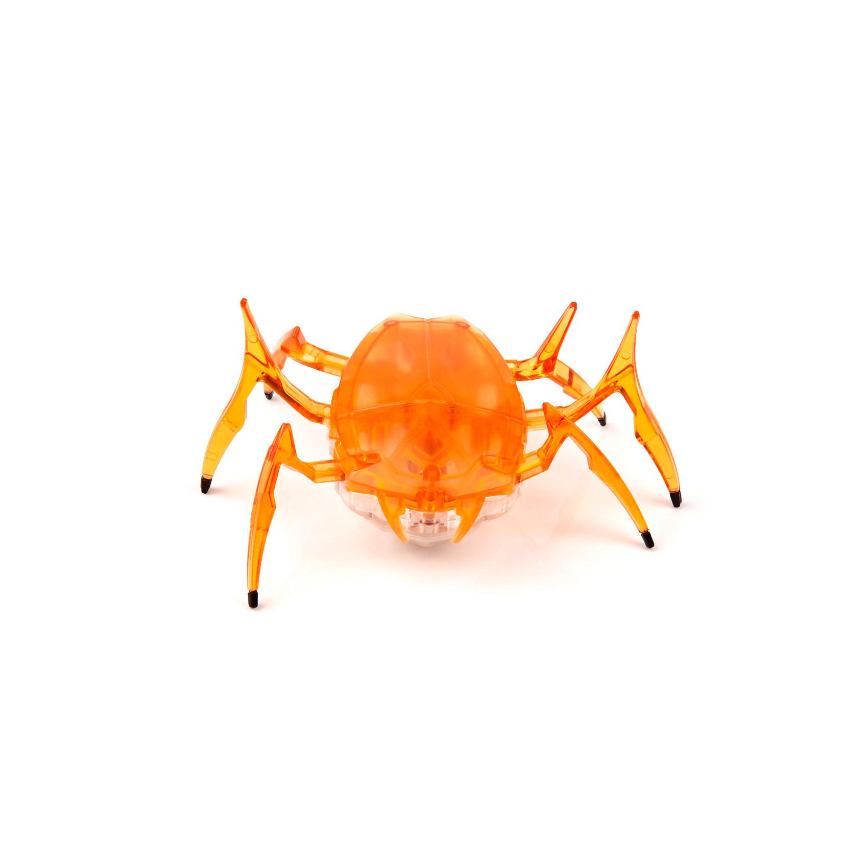 Микро-робот Жук Скарабей, оранжевый, HexbugИнтерактивные животные<br>Наноробот Hexbug Жук Скарабей.<br><br>Характеристики электронной игрушки Hexbug:<br><br>• строение тела: крупное овальное тело, выпуклое сверху и снизу;<br>• количество лап: 3 пары;<br>• специальная конструкция лапок для достижение максимальной скорости;<br>• передвигается только на своих лапках;<br>• супербыстрый наноробот, присутствует агрессивность;<br>• 12 передач и мощнейший моторчик – 1220 раз в минуту жук Скарабей передвигает лапками;<br>• специальный привод, случайность траектории движения;<br>• при встрече с препятствием: мелкий предмет отодвигает лапками, от большого предмета отпрыгивает в поисках новой траектории движения;<br>• при падении на спину жук Hexbug Nano переворачивается на лапки;<br>• размер скарабея: 8,2х4,1х5,7 см;<br>• вес наноробота: 28,5 г.<br><br>Современные и технологичные электронные игрушки Hexbug Nano – это скоростные жуки Скарабеи, быстрые, шустрые, умные. Бегают по случайно выбранной траектории, отталкиваются и переворачиваются после падения. Настоящий прорыв в области подвижных микро-роботов!<br><br>Микро-робот Жук Скарабей, оранжевый, Hexbug можно купить в нашем интернет-магазине.<br><br>Ширина мм: 6<br>Глубина мм: 13<br>Высота мм: 11<br>Вес г: 47<br>Возраст от месяцев: 36<br>Возраст до месяцев: 2147483647<br>Пол: Унисекс<br>Возраст: Детский<br>SKU: 5007082