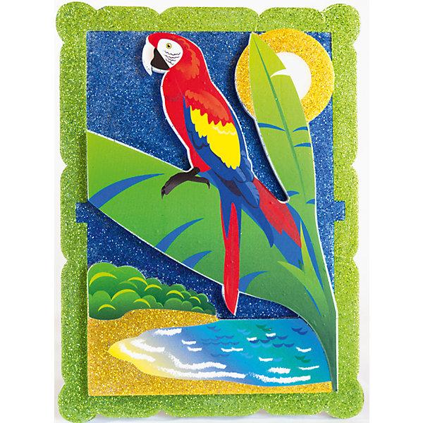 Набор для творчества Попугай в тропиках PicnMixБумага<br>Набор для творчества Попугай в тропиках -это объёмная красочная картина-аппликация, которая помогает тренировать зрительную память координацию движений и способствует развитию мелкой мотрики рук.<br>Ширина мм: 21; Глубина мм: 16; Высота мм: 5; Вес г: 140; Возраст от месяцев: 36; Возраст до месяцев: 120; Пол: Унисекс; Возраст: Детский; SKU: 5007390;