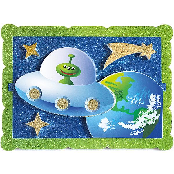 Набор для творчества Космический гость PicnMixБумага<br>Набор для творчества Космический гость -это объёмная красочная картина-аппликация, которая помогает тренировать зрительную память координацию движений и способствует развитию мелкой мотрики рук.<br>Ширина мм: 21; Глубина мм: 16; Высота мм: 5; Вес г: 140; Возраст от месяцев: 36; Возраст до месяцев: 120; Пол: Унисекс; Возраст: Детский; SKU: 5007391;