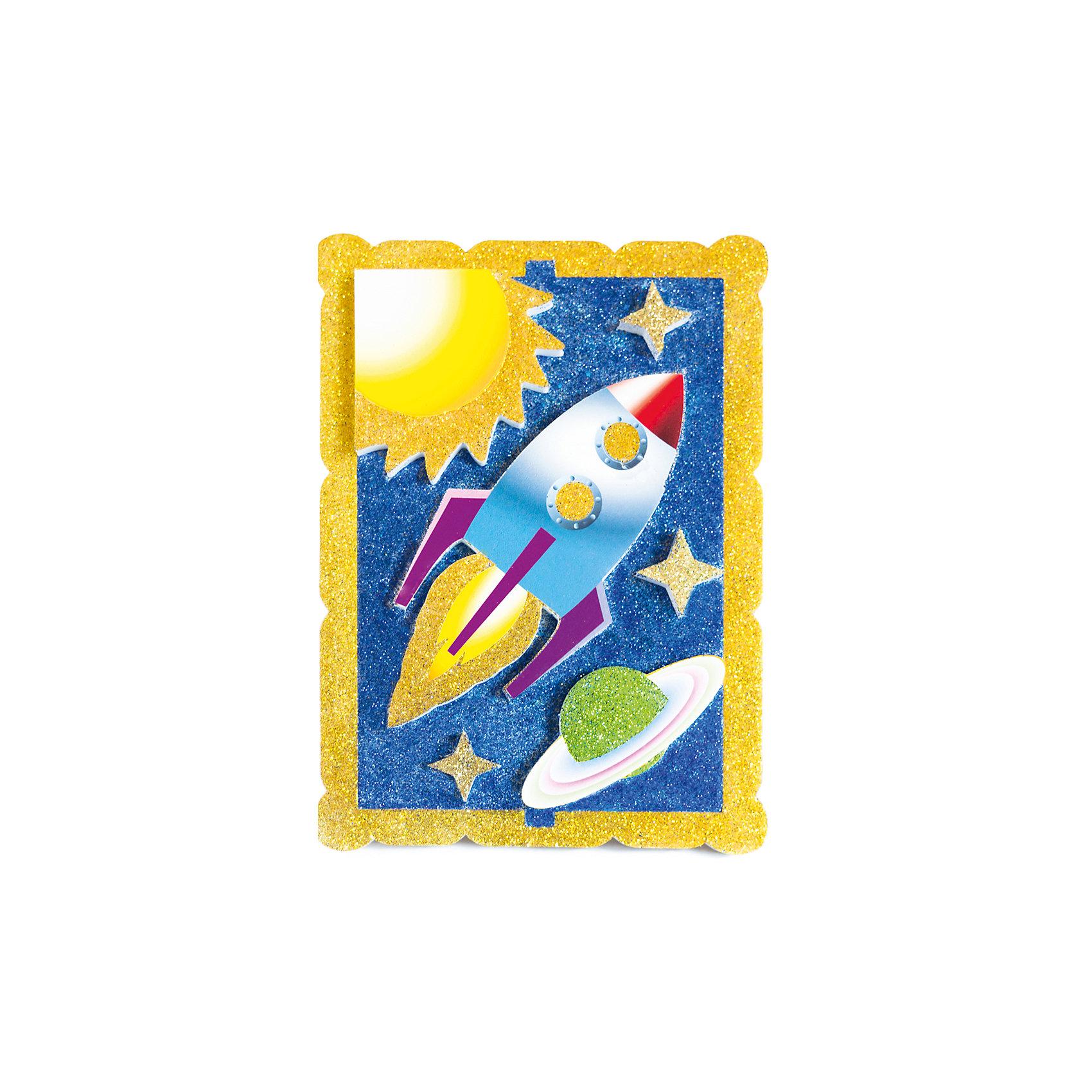 Набор для творчества Космическое путешествие PicnMixРукоделие<br>Набор для творчества Космическое путешествие -это объёмная красочная картина-аппликация, которая помогает тренировать зрительную память координацию движений и способствует развитию мелкой мотрики рук.<br><br>Ширина мм: 21<br>Глубина мм: 16<br>Высота мм: 5<br>Вес г: 140<br>Возраст от месяцев: 36<br>Возраст до месяцев: 120<br>Пол: Унисекс<br>Возраст: Детский<br>SKU: 5007392
