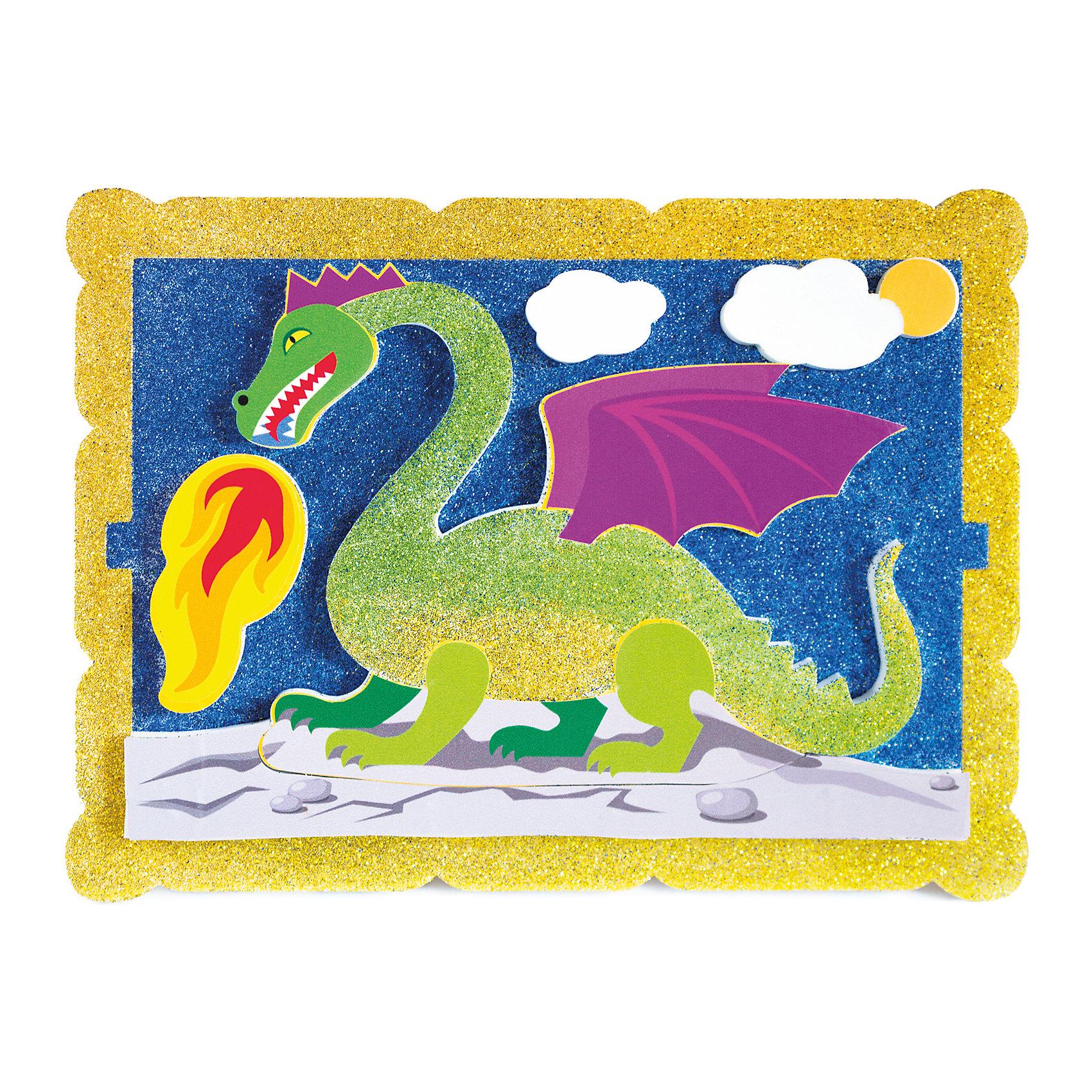 Набор для творчества Волшебный дракон PicnMixРукоделие<br>Набор для творчества Волшебный дракон -это объёмная красочная картина-аппликация, которая помогает тренировать зрительную память координацию движений и способствует развитию мелкой мотрики рук.<br><br>Ширина мм: 21<br>Глубина мм: 16<br>Высота мм: 5<br>Вес г: 140<br>Возраст от месяцев: 36<br>Возраст до месяцев: 120<br>Пол: Унисекс<br>Возраст: Детский<br>SKU: 5007393
