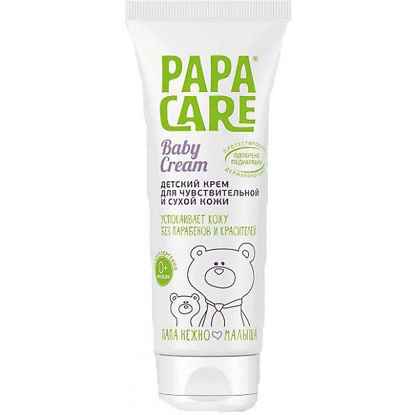 Детский крем для чувствительной кожи 100 мл. ТУБА, PAPA CAREКосметика для малыша<br>Детский крем Papa Care(Папа Кеа) для сухой и очень чувствительной кожи нежно смягчает, насыщает влагой, увлажняет и бережно ухаживает за воспаленной и шелушащейся кожей. Содержит бальзам, способствующий быстрому заживлению и регенерации клеток. Изготовлен из натуральных компонентов и полностью безопасен даже при проглатывании. <br><br>Дополнительная информация:<br>Объем: 100 мл<br>Возраст: с рождения<br>Состав:  лечебный бальзам, басаболин, масло зародышей семян кукурузы, экстракт имбиря.<br><br><br>Детский крем для чувствительной кожи Papa Care(Папа Кеа) можно приобрести в нашем интернет-магазине.<br><br>Ширина мм: 210<br>Глубина мм: 160<br>Высота мм: 140<br>Вес г: 100<br>Возраст от месяцев: 2<br>Возраст до месяцев: 36<br>Пол: Унисекс<br>Возраст: Детский<br>SKU: 5007672