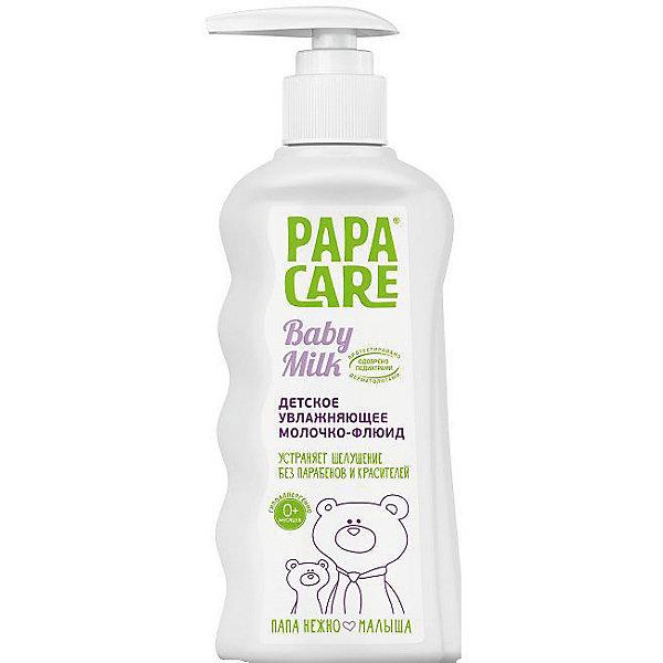 Детское увлажняющее молочко-флюид 150 мл. с помпой, PAPA CAREКосметика для малыша<br>Увлажняющее молочко-флюид позаботится о коже малыша с рождения. Молочко питает, увлажняет кожу и предотвращает ее сухость и шелушение. Натуральные компоненты в составе снимут воспаление и раздражение. Содержит масла жожоба, оливы, миндаля и экстракты альпийской розы, календулы, алоэ-вера. Отличный выбор для ухода за чувствительной кожей крохи!<br><br>Дополнительная информация:<br>Объем: 150 мл<br>Возраст: с рождения<br><br>Детское увлажняющее молочко-флюид Papa Care(Папа Кеа) вы можете приобрести в нашем интернет-магазине.<br>Ширина мм: 60; Глубина мм: 30; Высота мм: 150; Вес г: 167; Возраст от месяцев: 6; Возраст до месяцев: 36; Пол: Унисекс; Возраст: Детский; SKU: 5007676;