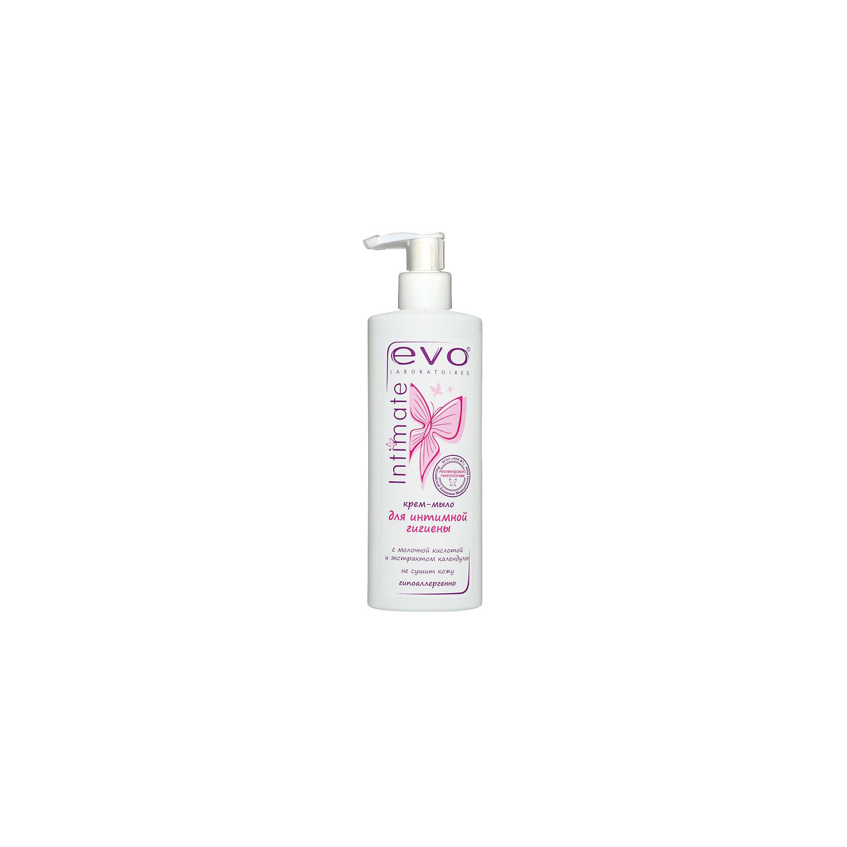 Крем-мыло для интимной гигиены EVO 200 мл.EVO - крем-мыло для интимной гигиены. Деликатно ухаживает, сохраняя естественный рН кожи, предупреждает сухость и раздражение. Крем-мыло содержит экстракт календулы, масло миндаля, молочную кислоту и аллантоин. Это крем-мыло подарит комфорт и свежесть на весь день! <br><br>Дополнительная информация: <br>Объем: 200 мл<br><br>Вы можете приобрести крем-мыло для интимной гигиены EVO в нашем интернет-магазине.<br><br>Ширина мм: 35<br>Глубина мм: 70<br>Высота мм: 190<br>Вес г: 250<br>Возраст от месяцев: 216<br>Возраст до месяцев: 600<br>Пол: Унисекс<br>Возраст: Детский<br>SKU: 5007690