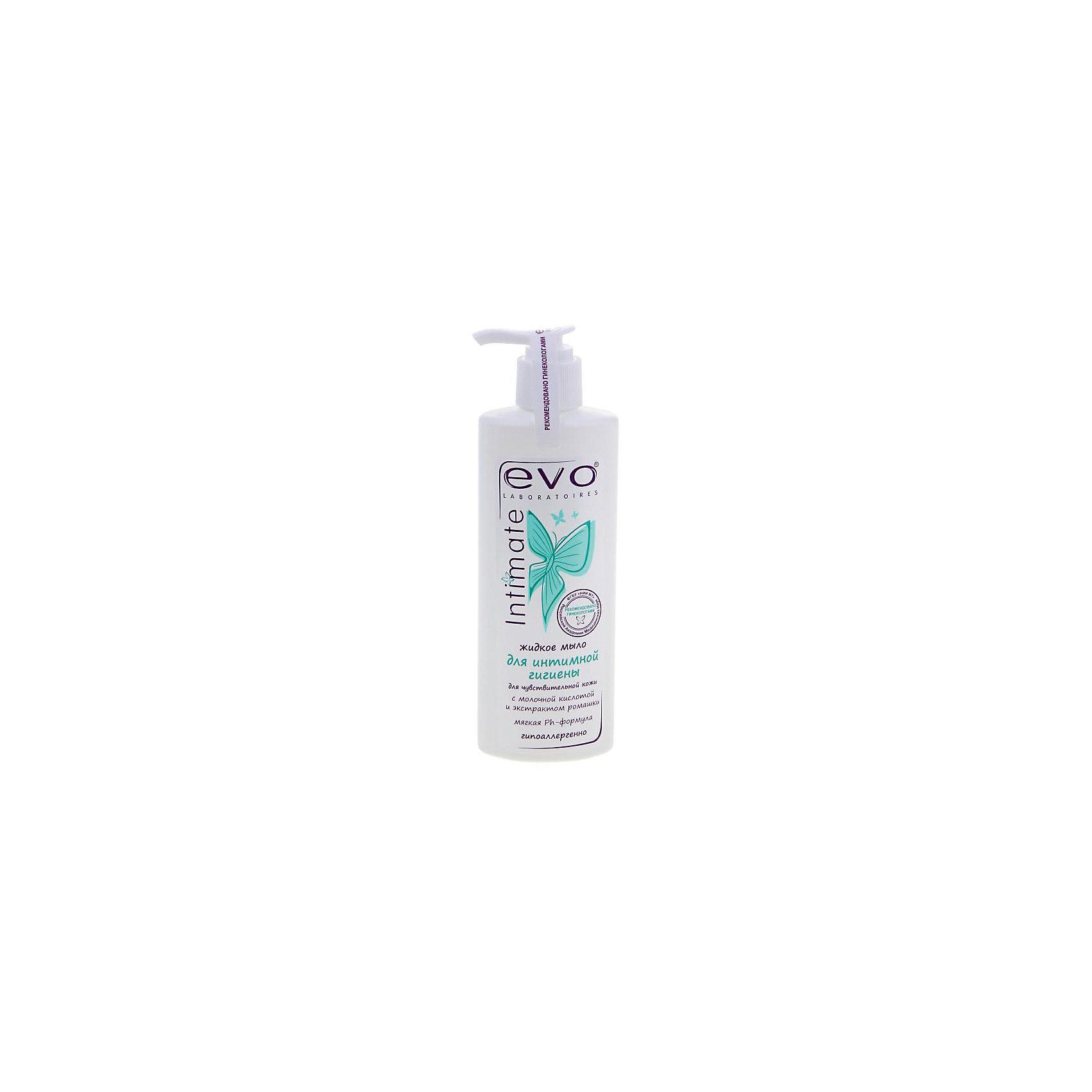 Мыло жидкое для интимной гигиены для чувствительной кожи EVO 200 мл.EVO - жидкое мыло для интимной гигиены. Деликатно ухаживает, сохраняя естественный рН кожи, предупреждает сухость и раздражение. Мыло содержит экстракт ромашки, молочную кислоту и аллантоин. Это жидкое мыло подарит комфорт и свежесть на весь день! <br><br>Дополнительная информация: <br>Объем: 200 мл<br><br>Вы можете приобрести жидкое мыло для интимной гигиены EVO в нашем интернет-магазине.<br><br>Ширина мм: 35<br>Глубина мм: 70<br>Высота мм: 190<br>Вес г: 250<br>Возраст от месяцев: 216<br>Возраст до месяцев: 600<br>Пол: Унисекс<br>Возраст: Детский<br>SKU: 5007691