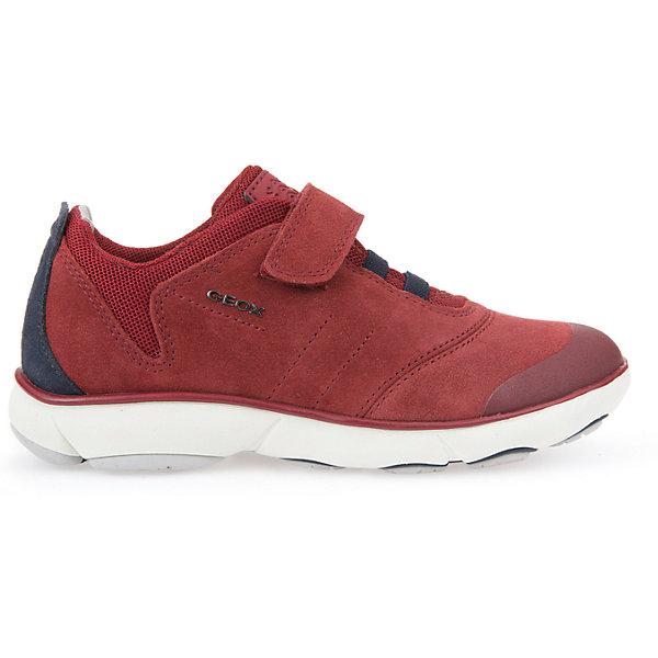 Кроссовки для мальчика GEOXКроссовки<br>Кроссовки для мальчика от знаменитого итальянского бренда взрослой и детской одежды и обуви GEOX (Геокс). Прогулки станут еще веселее! Кроссовки представлены в цвете красного кирпича в  с темно-синими деталями отделки, которые отлично сочетаются с белой подошвой. Идеальные для игр, кроссовки имеют все необходимое для удобства и комфорта ребенка в течение всего дня. Разработанная технология подошвы кроссовок не позволяет им скользить, амортизирует шаги, не пропускает воду и позволяет стопе дышать. Мягкая подошва отлично гнется, обеспечивая безопасность шагов малыша, поддерживая стопу, позволяя стоять более уверенно и оставляя свободу движения. Эргономичная кожаная антибактериальная стелька и высокий задник хорошо фиксируют голеностоп и удобны в носке. Внутренний материал позволяют легко надевать и снимать кроссовки, застегивая на практичную липучку. Кроссовки сохраняют тепло ног ребенка и оставляют их сухими, позволяя им дышать. <br>Дополнительная информация:<br>- Состав:<br>верх:  70% натуральная кожа, 26% текстиль, 4% синтетика<br>подкладка: 89% текстиль, 6% синтетика, 5 % синтетика<br>стелька: натуральная кожа <br>подошва: резина<br>Кроссовки для мальчика GEOX (Геокс) можно купить в нашем магазине.<br>Подробнее:<br>• Для детей в возрасте: от 6 до 11 лет<br>• Номер товара: 5007885<br>Страна производитель: Вьетнам<br><br>Ширина мм: 250<br>Глубина мм: 150<br>Высота мм: 150<br>Вес г: 250<br>Цвет: синий/красный<br>Возраст от месяцев: 96<br>Возраст до месяцев: 108<br>Пол: Мужской<br>Возраст: Детский<br>Размер: 32,27,38,37,36,35,34,33,31,30,29,28<br>SKU: 5007885