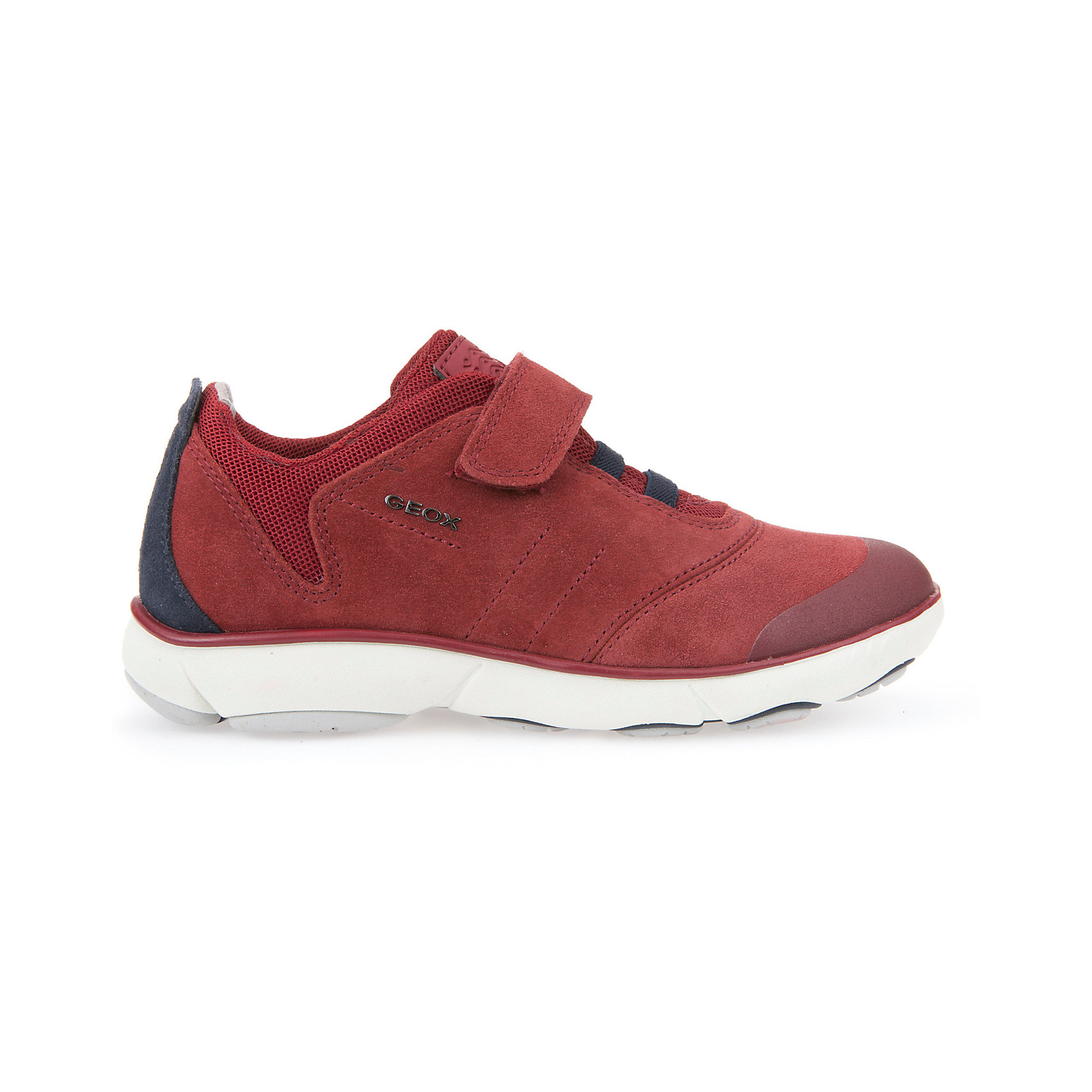 Кроссовки для мальчика GEOXКроссовки<br>Кроссовки для мальчика от знаменитого итальянского бренда взрослой и детской одежды и обуви GEOX (Геокс). Прогулки станут еще веселее! Кроссовки представлены в цвете красного кирпича в  с темно-синими деталями отделки, которые отлично сочетаются с белой подошвой. Идеальные для игр, кроссовки имеют все необходимое для удобства и комфорта ребенка в течение всего дня. Разработанная технология подошвы кроссовок не позволяет им скользить, амортизирует шаги, не пропускает воду и позволяет стопе дышать. Мягкая подошва отлично гнется, обеспечивая безопасность шагов малыша, поддерживая стопу, позволяя стоять более уверенно и оставляя свободу движения. Эргономичная кожаная антибактериальная стелька и высокий задник хорошо фиксируют голеностоп и удобны в носке. Внутренний материал позволяют легко надевать и снимать кроссовки, застегивая на практичную липучку. Кроссовки сохраняют тепло ног ребенка и оставляют их сухими, позволяя им дышать. <br>Дополнительная информация:<br>- Состав:<br>верх:  70% натуральная кожа, 26% текстиль, 4% синтетика<br>подкладка: 89% текстиль, 6% синтетика, 5 % синтетика<br>стелька: натуральная кожа <br>подошва: резина<br>Кроссовки для мальчика GEOX (Геокс) можно купить в нашем магазине.<br>Подробнее:<br>• Для детей в возрасте: от 6 до 11 лет<br>• Номер товара: 5007885<br>Страна производитель: Вьетнам<br><br>Ширина мм: 250<br>Глубина мм: 150<br>Высота мм: 150<br>Вес г: 250<br>Цвет: красный/синий<br>Возраст от месяцев: 96<br>Возраст до месяцев: 108<br>Пол: Мужской<br>Возраст: Детский<br>Размер: 32,33,34,35,36,37,38,27,28,29,30,31<br>SKU: 5007885