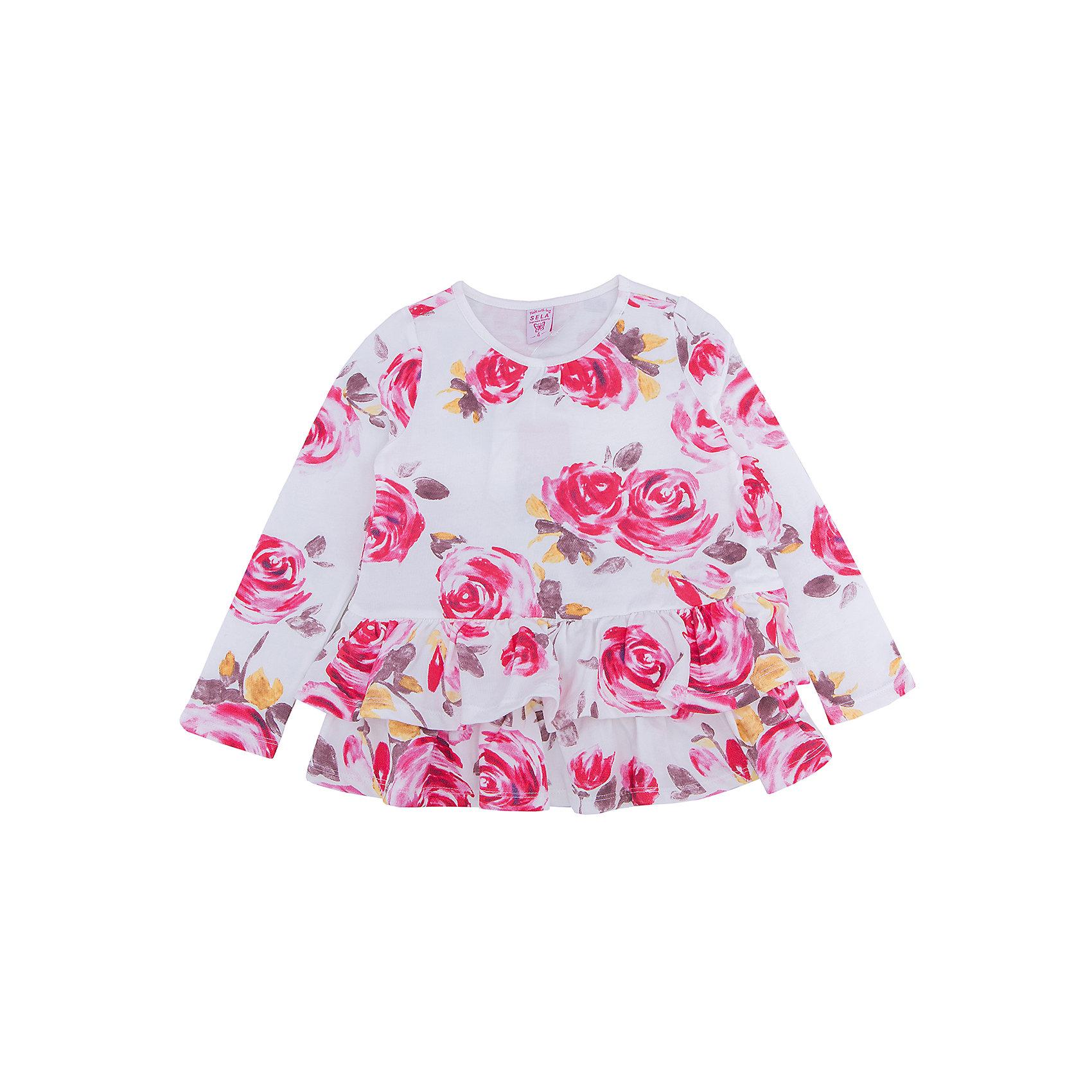 Платье для девочки SELAПлатье с принтом - удобная и модная вещь. Эта модель отлично сидит на ребенке, она смотрится стильно и нарядно. Приятная на ощупь ткань и качественная фурнитура обеспечивает ребенку комфорт. Модель станет отличной базовой вещью, которая будет уместна в различных сочетаниях.<br>Одежда от бренда Sela (Села) - это качество по приемлемым ценам. Многие российские родители уже оценили преимущества продукции этой компании и всё чаще приобретают одежду и аксессуары Sela.<br><br>Дополнительная информация:<br><br>материал: 95% хлопок, 5% эластан;<br>с принтом;<br>длинный рукав.<br><br>Платье для девочки от бренда Sela можно купить в нашем интернет-магазине.<br><br>Ширина мм: 236<br>Глубина мм: 16<br>Высота мм: 184<br>Вес г: 177<br>Цвет: белый<br>Возраст от месяцев: 48<br>Возраст до месяцев: 60<br>Пол: Женский<br>Возраст: Детский<br>Размер: 110,104,98,92,116<br>SKU: 5008227
