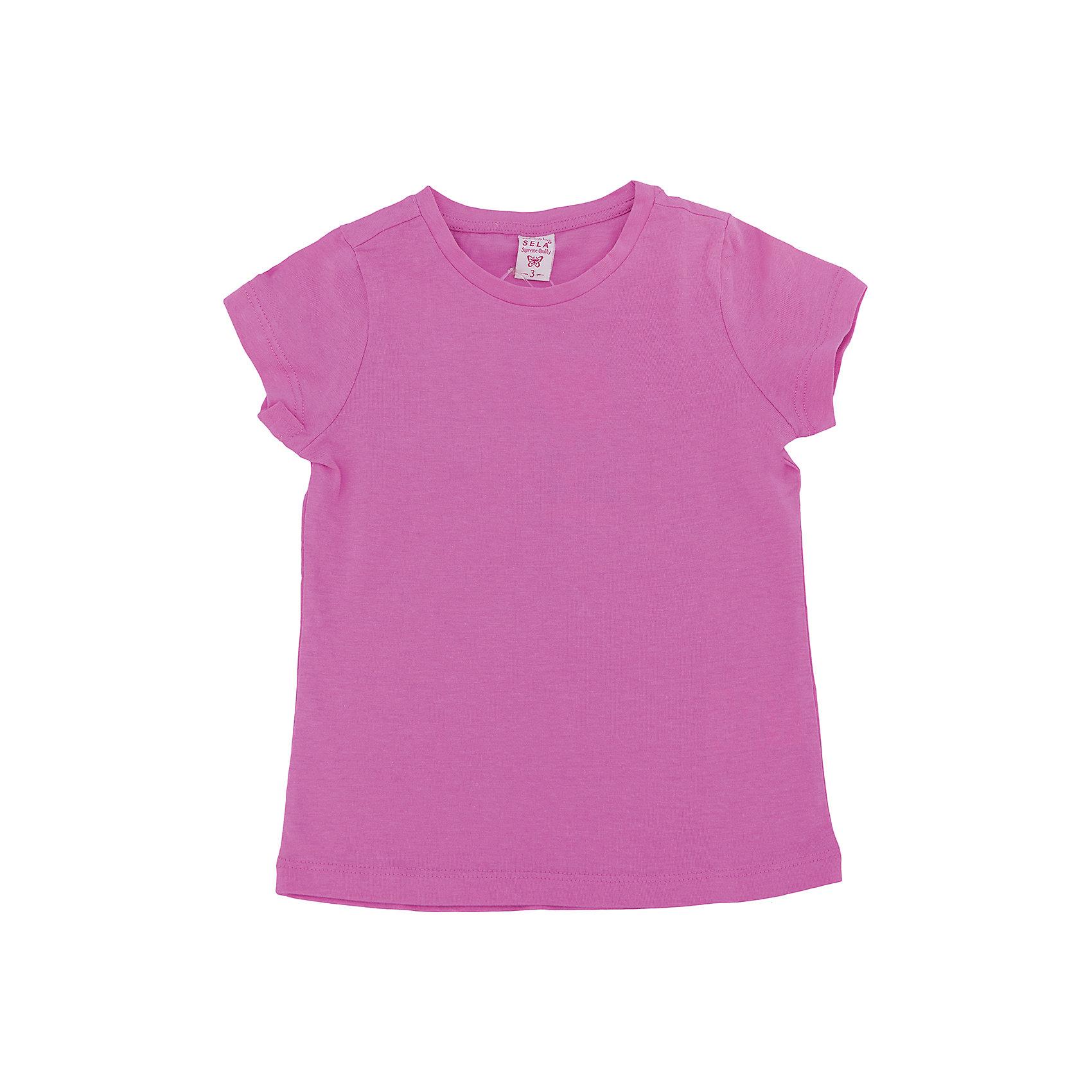 SELA Футболка для девочки SELA купить в москве хсн одежда