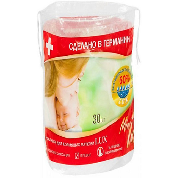 Прокладки для кормящих матерей ЛЮКС гелевые 30 шт., MiniMaxНакладки и прокладки на грудь<br>Мягкие прокладки для груди с выемкой для соска защищают нижнее белье от намокания, впитывают и абсорбируют подтекшее грудное молоко и выделения. Тонкие прокладки позволяют сохранить кожу груди сухой между кормлениями. <br><br>Дополнительная информация:<br><br>Материал: 100% хлопок, целлюлоза, гелевый суперабсорбент<br>Количество в упаковке: 30 штук<br><br>Прокладки для кормящих матерей ЛЮКС гелевые 30 шт., MiniMax можно купить в нашем интернет-магазине.<br><br>Ширина мм: 300<br>Глубина мм: 100<br>Высота мм: 50<br>Вес г: 500<br>Возраст от месяцев: 216<br>Возраст до месяцев: 600<br>Пол: Женский<br>Возраст: Детский<br>SKU: 5008340