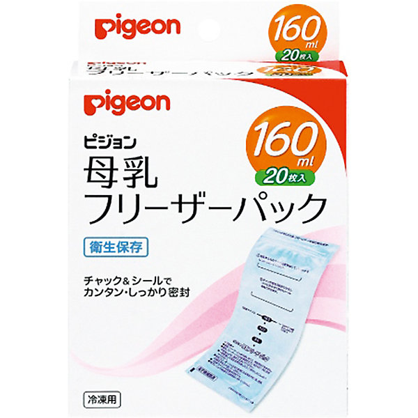 Пакет для заморозки грудного молока 160 мл, 20 шт., PigeonМолокоотсосы и аксессуары<br>Сцеженное грудное молоко хранится в холодильнике. Специальные пакеты для хранения грудного молока герметично закрываются, позволяют порционно замораживать и хранить грудное молоко. <br><br>Дополнительная информация:<br><br>Объем пакета Pigeon: 160 мл<br>Количество в упаковке: 20 штук <br><br>Пакеты для заморозки грудного молока 160 мл, 20 шт., Pigeon можно купить в нашем интернет-магазине.<br><br>Ширина мм: 300<br>Глубина мм: 100<br>Высота мм: 50<br>Вес г: 160<br>Возраст от месяцев: 0<br>Возраст до месяцев: 36<br>Пол: Унисекс<br>Возраст: Детский<br>SKU: 5008349