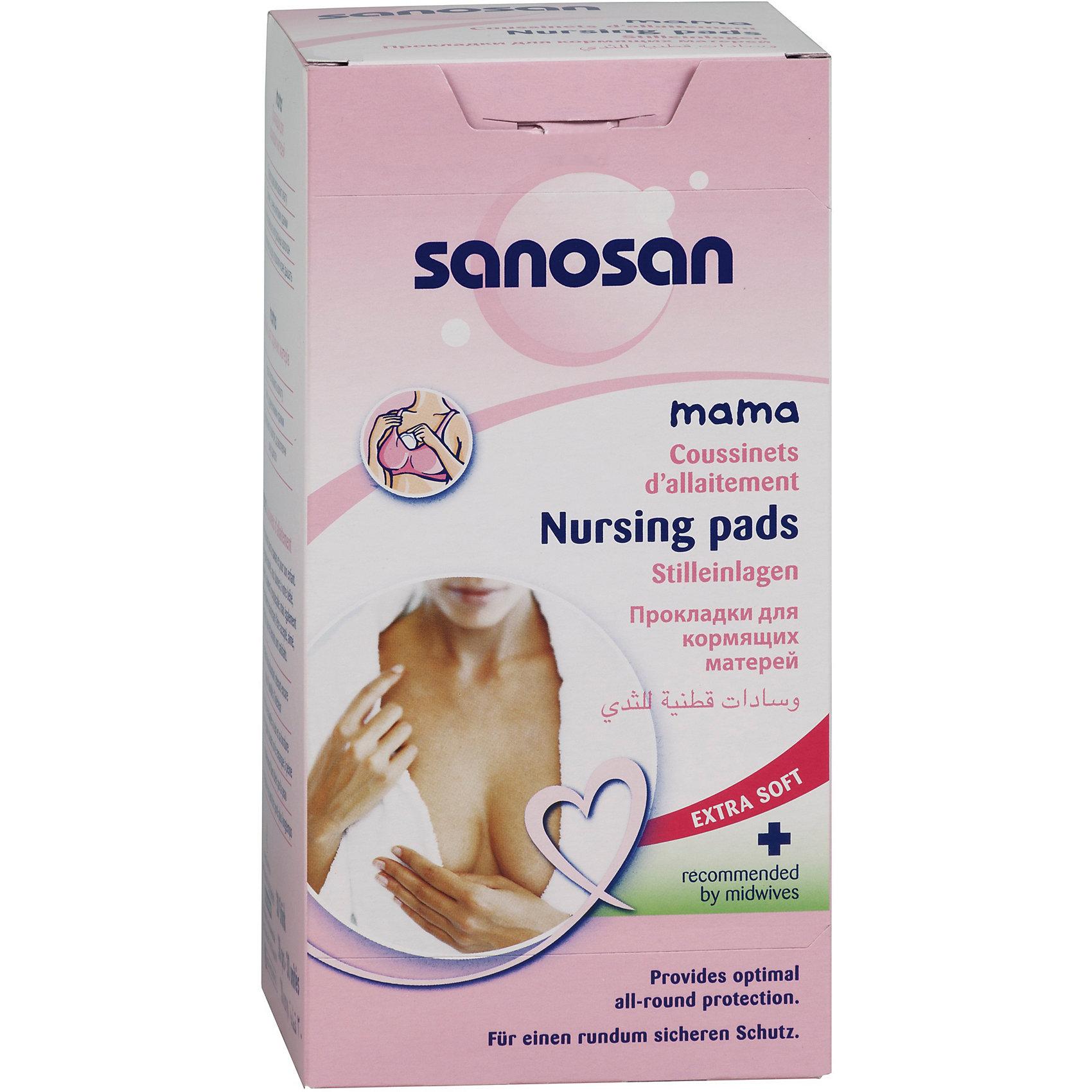 Прокладки для кормящих матерей 30 шт., SanosanНакладки на грудь<br>Гигиенические прокладки для груди крепятся к бюстгальтеру, защищают от подтеков грудного молока, помогают сохранить чистоту молочных желез в перерывах между кормлениями. Прокладки изготовлены из натуральных волокон, имеют анатомическую форму. Предотвращают появление трещин, пропускают воздух, позволяют коже дышать. Прокладки для кормящих матерей отлично впитывают влагу. <br><br>Прокладки для кормящих матерей 30 шт., Sanosan можно купить в нашем интернет-магазине.<br><br>Ширина мм: 300<br>Глубина мм: 100<br>Высота мм: 50<br>Вес г: 100<br>Возраст от месяцев: -2147483648<br>Возраст до месяцев: 2147483647<br>Пол: Унисекс<br>Возраст: Детский<br>SKU: 5008375