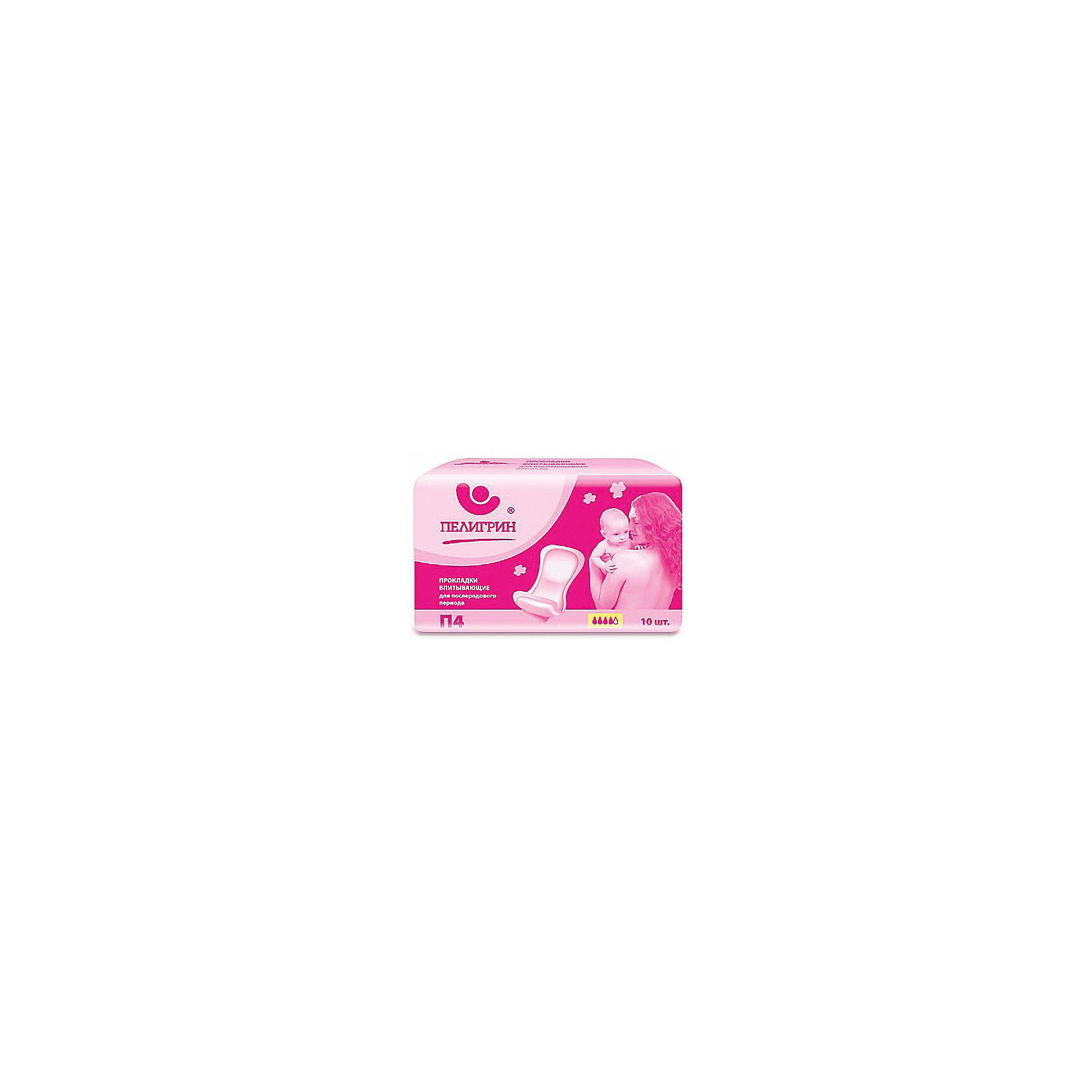 Прокладки послеродовые анатомич. 600 мл (10шт), ПелигринПослеродовые прокладки анатомической формы «Пелигрин» содержат абсорбент, надежно впитывают и удерживают внутри жидкость, влагу и обильные выделения. Прокладки с фиксацией предназначены для защиты в послеродовый период, имеются боковые резинки, которые препятствуют протеканию. <br><br>Дополнительная информация:<br><br>Прокладки впитывают до 600 мл жидкости. <br>Прокладка фиксируется одноразовыми трусиками Пелигрин. Трусики в комплект не входят.<br><br>Состав:<br>гидрофильное нетканое полотно, 100% полипропилен, распушённая целлюлоза, клеевой слой, антиагезивный материал, полиэтилен, полимерный суперабсорбент.<br><br>Прокладки послеродовые анатомич. 600 мл (10шт), Пелигрин можно купить в нашем интернет-магазине.<br><br>Ширина мм: 300<br>Глубина мм: 100<br>Высота мм: 50<br>Вес г: 600<br>Возраст от месяцев: -2147483648<br>Возраст до месяцев: 2147483647<br>Пол: Унисекс<br>Возраст: Детский<br>SKU: 5008388
