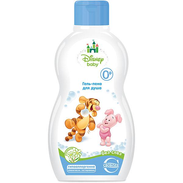 Гель-пена для душа с ромашкой Disney baby, СвободаКосметика для малыша<br>Бережное очищение кожи малыша с первых дней его жизни – залог здорового развития крохи. Гель-пена для купания новорожденных увлажняет и смягчает кожу ребенка. Средство гипоаллергенно. <br><br>Дополнительная информация:<br><br>Содержит экстракт ромашки, пантенол, аллатоин, кокосовое масло.<br>Не содержит мыла, парабенов и красителей.<br><br>Объем: 250 мл<br><br>Гель-пену для душа с ромашкой Disney baby, Свобода можно купить в нашем интернет-магазине.<br>Ширина мм: 300; Глубина мм: 100; Высота мм: 50; Вес г: 300; Возраст от месяцев: -2147483648; Возраст до месяцев: 2147483647; Пол: Унисекс; Возраст: Детский; SKU: 5008391;
