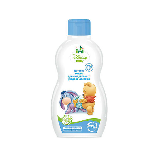 Детское масло для ежедневного ухода и массажа Disney baby, СвободаКосметика для малыша<br>Общеукрепляющие массажи новорожденного рекомендуется проводить с использованием детского масла Disney baby. Масло увлажняет и смягчает кожу малыша. Предназначено для чувствительной кожи.  <br><br>Дополнительная информация:<br><br>Содержит экстракт ромашки, миндальное масло, бисаболол, витамин Е..<br>Не содержит парабенов, силиконов и красителей.<br><br>Объем: 240 мл<br><br>Детское масло для ежедневного ухода и массажа Disney baby, Свобода можно купить в нашем интернет-магазине.<br>Ширина мм: 300; Глубина мм: 100; Высота мм: 50; Вес г: 100; Возраст от месяцев: -2147483648; Возраст до месяцев: 2147483647; Пол: Унисекс; Возраст: Детский; SKU: 5008393;