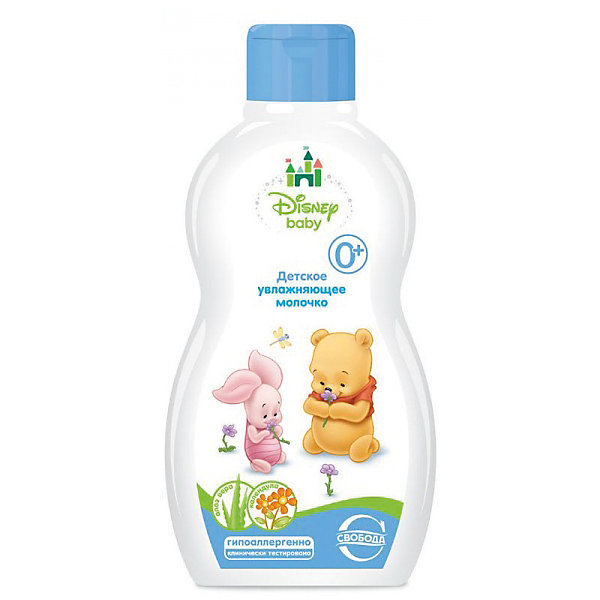 Детское увлажняющее молочко Disney baby, СвободаКосметика для малыша<br>Увлажняющее молочко Disney baby бережно ухаживает за чувствительной кожей малыша, успокаивает, питает и укрепляет кожу. Помогает устранить сухость и шелушение, обладает защитным действием. <br><br>Дополнительная информация:<br><br>Содержит: экстракт алоэ вера, экстракт календулы, D-пантенол, аллантоин, витамин Е, масло ши.<br>Не содержит парабенов, силиконов и красителей.<br><br>Объем: 240 мл<br><br>Детское увлажняющее молочко Disney baby, Свобода можно купить в нашем интернет-магазине.<br>Ширина мм: 300; Глубина мм: 100; Высота мм: 50; Вес г: 100; Возраст от месяцев: -2147483648; Возраст до месяцев: 2147483647; Пол: Унисекс; Возраст: Детский; SKU: 5008396;