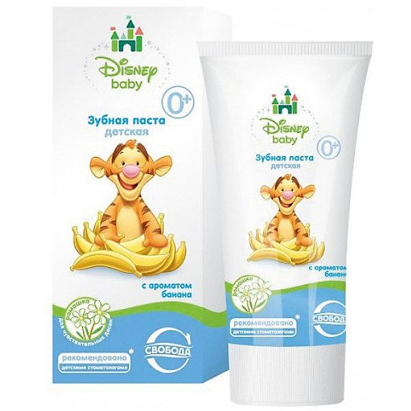 Зубная паста с ароматом банана в ламин. тубе в футляре Disney baby, СвободаДетская зубная паста<br>Бережное очищение зубов и уход за полостью рта обеспечивает детская зубная паста Disney baby. Используется для очищения молочных зубов без вреда для эмали. Зубная паста укрепляет зубную эмаль, оказывает профилактическое действие. Используется для чувствительных десен.<br><br>Дополнительная информация:<br><br>Безопасна при случайном проглатывании. <br><br>Содержит экстракт ромашки.<br>Не содержит парабенов, фтора, сахара. <br><br>Объем: 50 мл <br><br>Зубную пасту с ароматом банана в ламин. тубе в футляре Disney baby, Свобода можно купить в нашем интернет-магазине.<br><br>Ширина мм: 300<br>Глубина мм: 100<br>Высота мм: 50<br>Вес г: 100<br>Возраст от месяцев: -2147483648<br>Возраст до месяцев: 2147483647<br>Пол: Унисекс<br>Возраст: Детский<br>SKU: 5008397