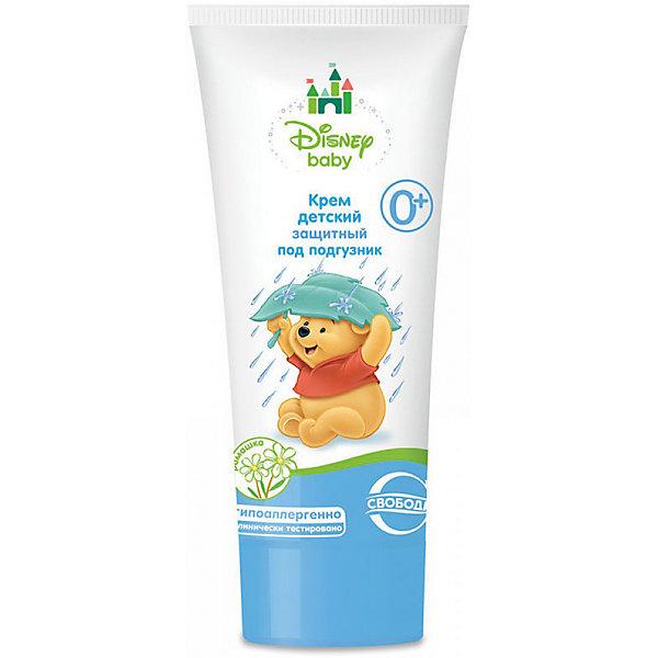 Крем защитный под подгузник в ламин. тубе Disney baby, СвободаКосметика для малыша<br>Детский крем бережно ухаживает за кожей малыша с первых дней его жизни, снимает опрелости, раздражения кожи. Крем наносится на область контакта с подгузником, обладает питательным и увлажняющим эффектом. <br><br>Дополнительная информация:<br><br>Содержит экстракт ромашки, оливковое масло, витамин Е.<br>Не содержит парабенов, силиконов и красителей.<br><br>Объем: 60 мл<br><br>Крем защитный под подгузник в ламин. тубе Disney baby, Свобода можно купить в нашем интернет-магазине.<br>Ширина мм: 300; Глубина мм: 100; Высота мм: 50; Вес г: 100; Возраст от месяцев: -2147483648; Возраст до месяцев: 2147483647; Пол: Унисекс; Возраст: Детский; SKU: 5008400;