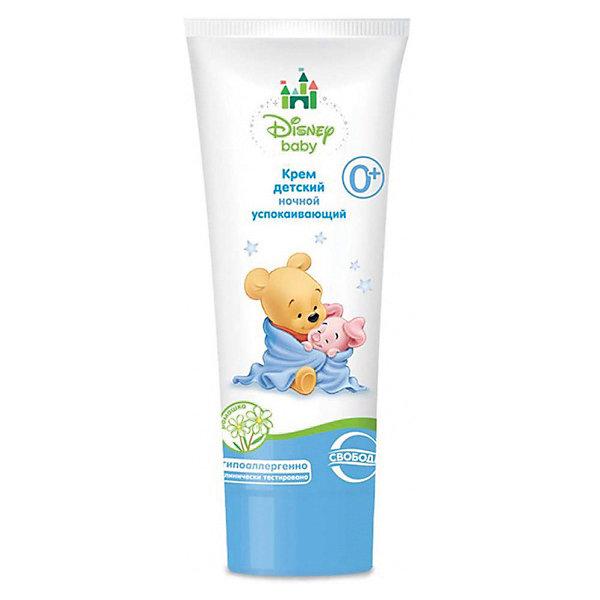 Крем ночной успокаивающий в ламин. тубе Disney baby, СвободаКосметика для малыша<br>Детский крем с успокаивающим действие бережно ухаживает за кожей малыша, предупреждает покраснения, устраняет шелушение. Увлажняющий ночной крем наносится перед сном, массажными движениями распределяется по всему телу малыша. <br><br>Дополнительная информация:<br><br>Содержит экстракт ромашки, оливковое масло, витамина F, провитамин В5, бисаболол, аллантоин. <br>Не содержит парабенов и красителей. <br><br>Объем: 75 мл<br><br>Крем ночной успокаивающий в ламин. тубе Disney baby, Свобода можно купить в нашем интернет-магазине.<br>Ширина мм: 300; Глубина мм: 100; Высота мм: 50; Вес г: 100; Возраст от месяцев: -2147483648; Возраст до месяцев: 2147483647; Пол: Унисекс; Возраст: Детский; SKU: 5008401;
