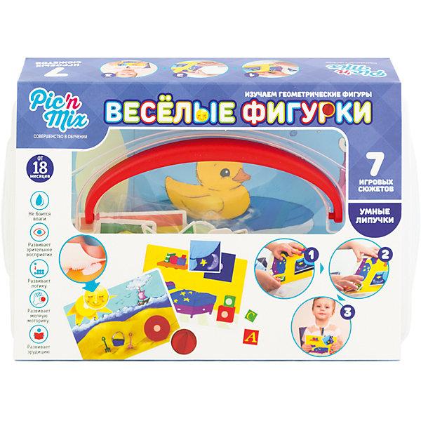 Игра Веселые фигурки, PicnMixИзучаем цвета и формы<br>Игра Веселые фигурки - пазл-липучка от PicnMix. В процессе игры ребенку предстоит наклеить нужные элементы на соответствующие карточки и изучить названия геометрических фигур,  их особенности, а также найти сходства с окружающими предметами. Эта игра отлично развивает память, мелкую моторику, цветовое восприятие и кругозор. С игрой Веселые фигурки от PicnMix ваш малыш проведет время с пользой!<br><br>Дополнительная информация:<br>Количество полей: 7<br>Материал: полипропилен<br>Размер упаковки: 24х16х5 см<br>Вес: 375 грамм<br><br>Игру Веселые фигурки от PicnMix можно приобрести в нашем интернет-магазине.<br>Ширина мм: 250; Глубина мм: 52; Высота мм: 160; Вес г: 322; Возраст от месяцев: 18; Возраст до месяцев: 36; Пол: Унисекс; Возраст: Детский; SKU: 5008793;
