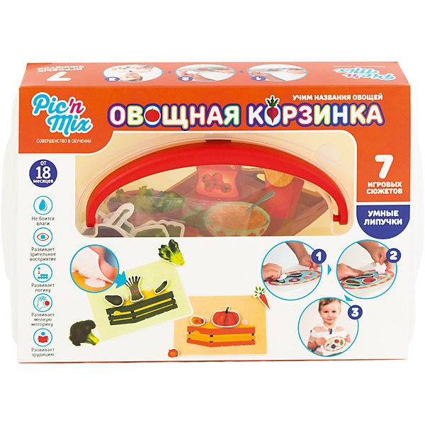 Игра Овощная корзинка, PicnMixОкружающий мир<br>Игра Овощная корзинка - пазл-липучка от PicnMix. В процессе игры ребенку предстоит наклеить нужные элементы на соответствующие карточки и изучить названия овощей, их свойства и блюда, в которых эти овощи встречаются. Эта игра отлично развивает память, мелкую моторику, цветовое восприятие и кругозор. С игрой Овощная корзинка от PicnMix ваш малыш проведет время с пользой!<br><br>Дополнительная информация:<br>Количество элементов: 40 шт<br>Материал: полипропилен<br>Размер упаковки: 24х16х5 см<br>Вес: 375 грамм<br><br>Игру Овощная корзинка от PicnMix можно приобрести в нашем интернет-магазине.<br>Ширина мм: 250; Глубина мм: 52; Высота мм: 160; Вес г: 305; Возраст от месяцев: 18; Возраст до месяцев: 36; Пол: Унисекс; Возраст: Детский; SKU: 5008794;