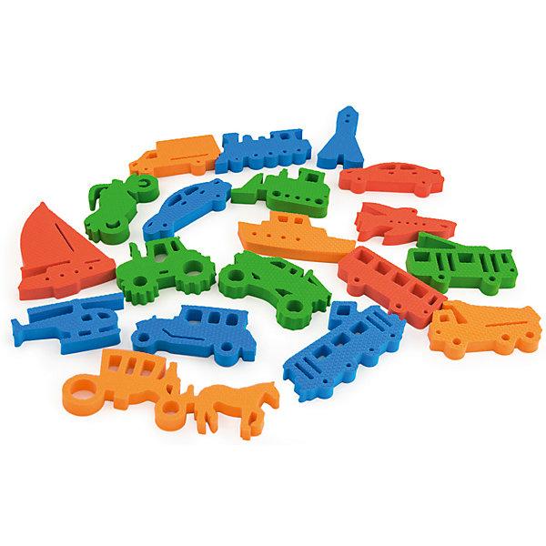 Набор Транспорт, PicnMixОкружающий мир<br>Транспорт от PicnMix - это игрушка, которая поможет вам обучать ребенка даже во время купания. Все детали легко держатся на воде, кафеле и других гладких поверхностях. В комплекте фигурки с различными видами транспорта четырех цветов: красный, оранжевый, зеленый, синий. Ребенок без труда выучит названия транспорта, а с вашей помощью он узнает для чего нужно каждое транспортное средство. Отлично развивает мелкую моторику и память. С игрой Транспорт купаться будет очень весело и интересно!<br><br>Дополнительная информация:<br>Материал: ЭВА<br>Размер упаковки: 15х15х25 см<br>Вес: 100 грамм<br><br>Набор Транспорт от PicnMix можно приобрести в нашем интернет-магазине.<br><br>Ширина мм: 150<br>Глубина мм: 250<br>Высота мм: 150<br>Вес г: 100<br>Возраст от месяцев: 36<br>Возраст до месяцев: 60<br>Пол: Унисекс<br>Возраст: Детский<br>SKU: 5008804