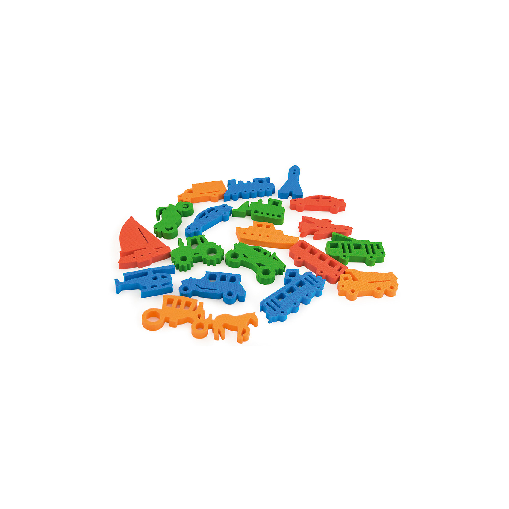 Набор Транспорт, PicnMixТранспорт от PicnMix - это игрушка, которая поможет вам обучать ребенка даже во время купания. Все детали легко держатся на воде, кафеле и других гладких поверхностях. В комплекте фигурки с различными видами транспорта четырех цветов: красный, оранжевый, зеленый, синий. Ребенок без труда выучит названия транспорта, а с вашей помощью он узнает для чего нужно каждое транспортное средство. Отлично развивает мелкую моторику и память. С игрой Транспорт купаться будет очень весело и интересно!<br><br>Дополнительная информация:<br>Материал: ЭВА<br>Размер упаковки: 15х15х25 см<br>Вес: 100 грамм<br><br>Набор Транспорт от PicnMix можно приобрести в нашем интернет-магазине.<br><br>Ширина мм: 150<br>Глубина мм: 250<br>Высота мм: 150<br>Вес г: 100<br>Возраст от месяцев: 36<br>Возраст до месяцев: 60<br>Пол: Унисекс<br>Возраст: Детский<br>SKU: 5008804