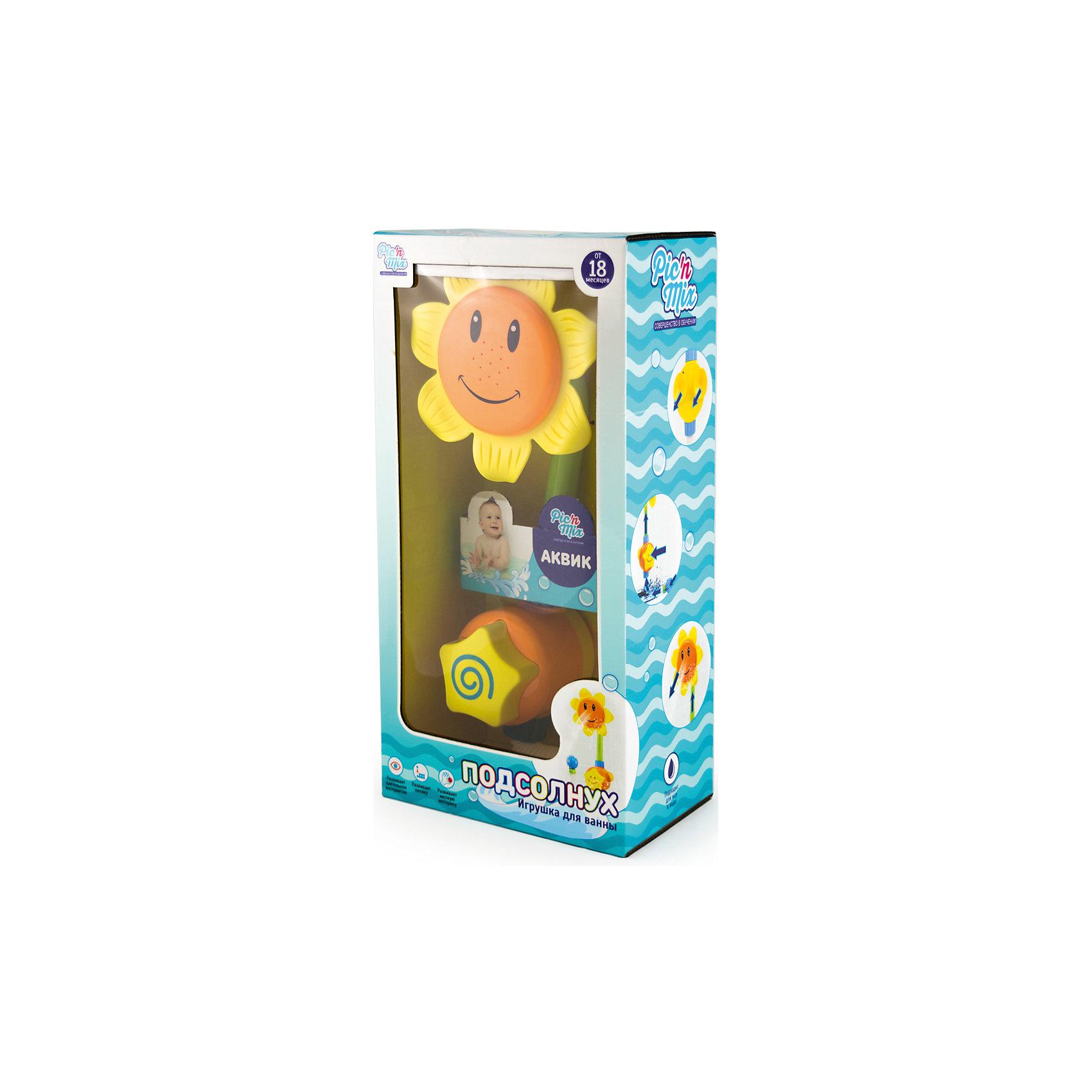 Игрушка для ванны Подсолнух, Pic'nMix от myToys