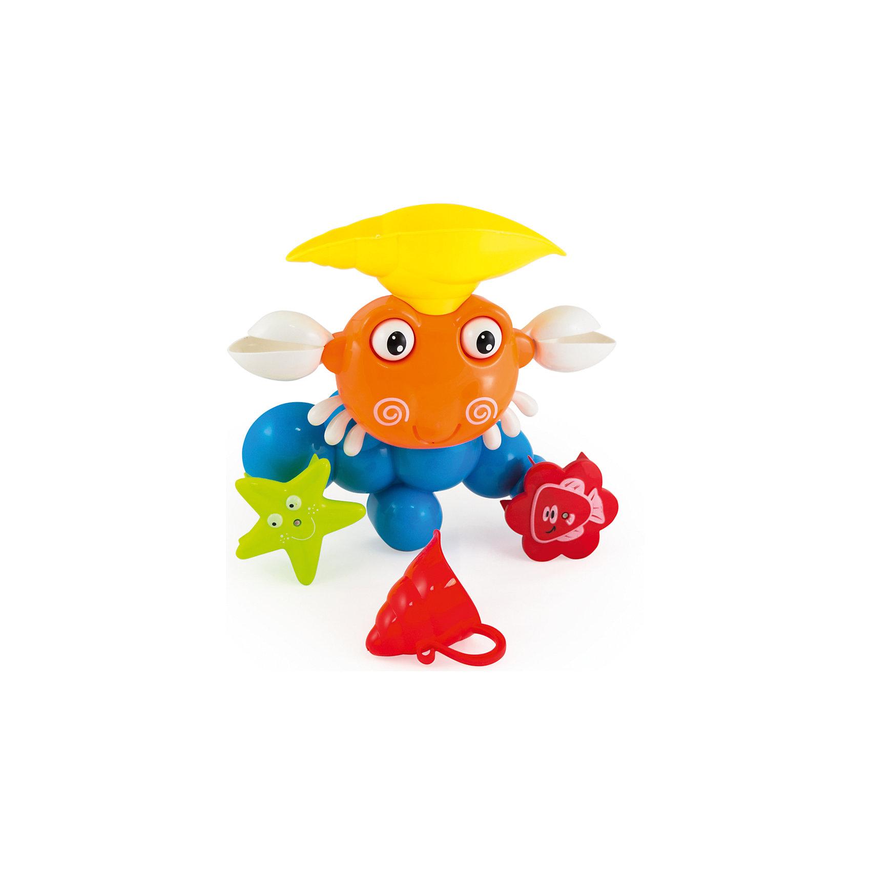Игрушка для ванны Краб, PicnMixИгровые наборы<br>Краб от PicnMix- яркая развивающая игрушка для ванны. Возьмите черпачок в виде ракушки, наберите в него воды и вылейте на голову краба. Все подвижные элементы игрушки тут же начнут крутиться, чем вызовут восторг у малыша. Краб поможет развить мелкую моторику и понимание причинно-следственных связей. С игрушкой Краб купаться будет очень весело и интересно!<br><br>Дополнительная информация:<br>Батарейки не требуются<br>Материал: пластик<br><br>Игрушку для ванны Краб от PicnMix можно купить в нашем интернет-магазине.<br><br>Ширина мм: 330<br>Глубина мм: 100<br>Высота мм: 340<br>Вес г: 622<br>Возраст от месяцев: 18<br>Возраст до месяцев: 60<br>Пол: Унисекс<br>Возраст: Детский<br>SKU: 5008806