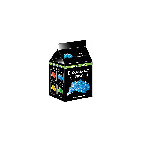 Набор для опытов Выращиваем кристаллы (синие)Выращивание растений<br>Серия Научные игры мини собрала лучшие опыты по химии, которые можно проводить в домашних условиях. Наборы содержат все необходимое: химические реактивы, оборудование и инструкцию. <br>В комплекте:<br>- дигидрофосфат аммония NH4H2PO4<br>- пищевой краситель<br>- мерный стакан<br>- пластиковые стаканчики<br>- чайная ложка<br>- шерстяная нить<br>- бумажная салфетка<br>- камешек<br><br>Ширина мм: 80<br>Глубина мм: 80<br>Высота мм: 100<br>Вес г: 70<br>Возраст от месяцев: 120<br>Возраст до месяцев: 192<br>Пол: Унисекс<br>Возраст: Детский<br>SKU: 5009294