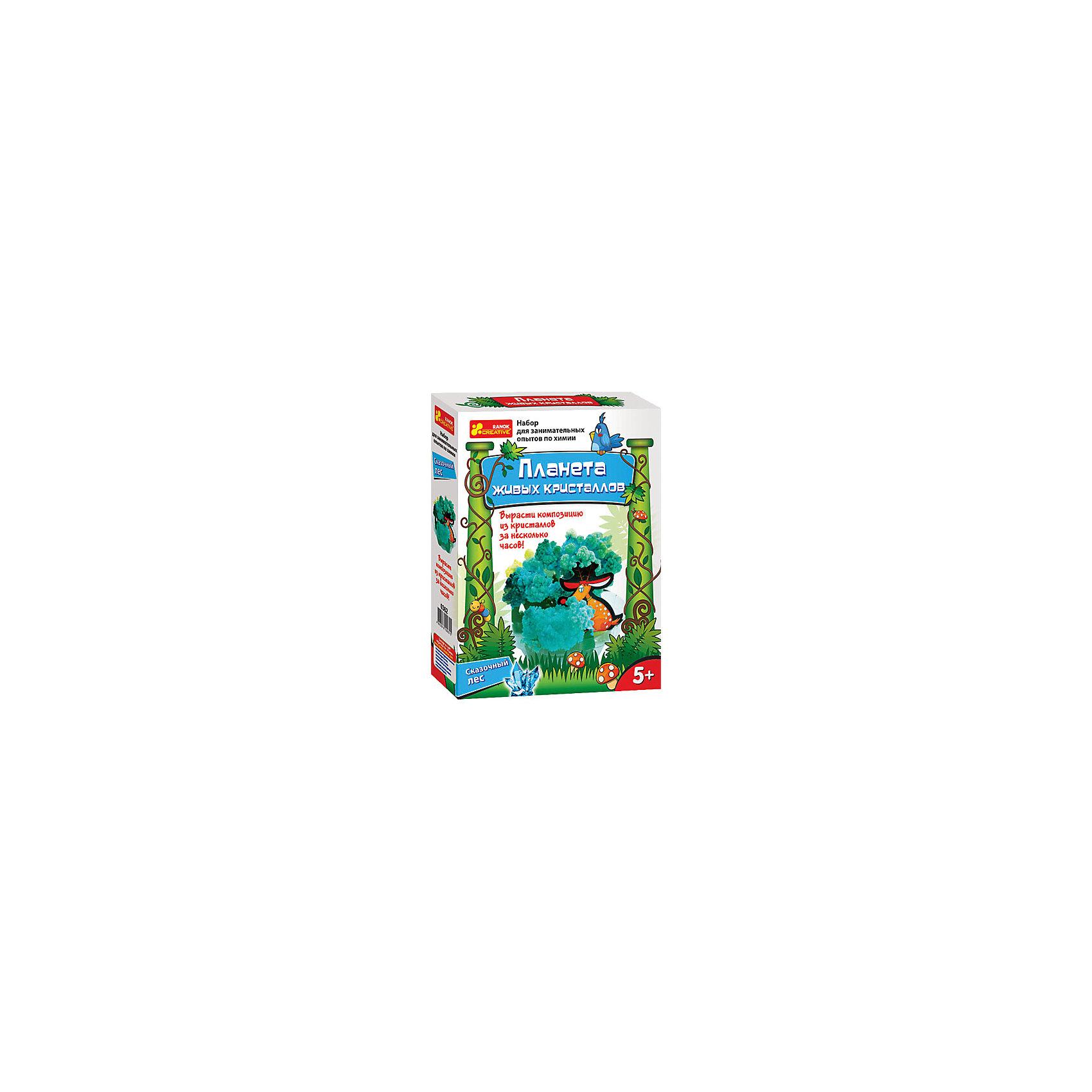 Сказочный лесКартины из песка<br>Характеристики:<br><br>• Вид игр: развивающие, обучающие занятия<br>• Предназначение: для проведения опытов в домашних условиях<br>• Пол: универсальный<br>• Предметная область: химия<br>• Комплектация: картонные элементы для сборки деревьев, подставка-держатель, пакетик с раствором, руководство-инструкция<br>• Материал: картон, пластик, реактив<br>• Размеры упаковки (Д*Ш*В): 17*5*22 см<br>• Вес упаковки: 110 г <br>• Упаковка: картонная коробка<br><br>Сказочный лес разработан компанией, специализирующейся на производстве товаров для организации творческого досуга детей разного возраста – Ranok Creative. Набор состоит из материалов и приспособлений для выращивания кристаллов за короткий промежуток времени. Поделка-основа выполнена в виде лесного пейзажа, который собирается из картонных деталей. Специальный раствор заливается в подставку-основу. Скорость роста кристаллов можно регулировать температурным режимом и уровнем влажности в помещении. Все материалы, использованные в наборе, имеют натуральную основу, они нетоксичны и безопасны. Увлекательные наборы экспериментов от Ranok Creative позволят проводить интересные и увлекательные занятия для детей. Экспериментальная деятельность способствует развитию у детей креативного мышления, любознательности и интеллекта. <br>Сказочный лес даст возможность освоить сложные химические процессы в легкой игровой форме.<br><br>Сказочный лес можно купить в нашем интернет-магазине.<br><br>Ширина мм: 170<br>Глубина мм: 50<br>Высота мм: 220<br>Вес г: 95<br>Возраст от месяцев: 60<br>Возраст до месяцев: 156<br>Пол: Унисекс<br>Возраст: Детский<br>SKU: 5009314