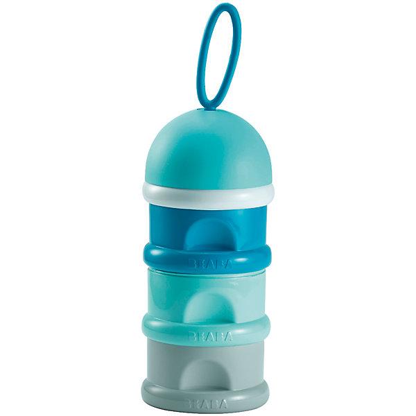 Контейнер для сыпучих смесей, Beaba, голубойДетская посуда<br>Контейнер для сыпучих смесей, голубой от знаменитого французского бренда товаров для детей Beaba (Беаба). Этот симпатичный и эргономичный контейнер состоит из трех отделений герметично прикручивающихся друг к другу, порядок отделений можно менять на свое усмотрение.  Контейнер не пропускает воздух и свет, создавая лучшие условия для хранения смесей. При желании, каждое отделение можно использовать для хранения кусочков фруктов или печенья для малыша. Также в комплект входит небольшая воронка для более удобного пересыпания смесей. Благодаря своей удобной форме контейнер не занимает много места, так как по размеру напоминает детскую бутылочку. Приятный морской темно-синий цвет отлично сочетается с оттенками серого. Прекрасный выбор для малышей, ведь они достойны самого лучшего!<br>Дополнительная информация:<br><br>- Состав: пластик<br>- Размер: 17,5 * 9 * 8 см.<br>- Можно мыть в посудомоечной машине или стерилизовать       <br><br>Контейнер для сыпучих смесей, голубой, Beaba (Беаба) можно купить в нашем интернет-магазине.<br>Подробнее:<br>• Для детей в возрасте: от 0 месяцев<br>• Номер товара: 5010893<br>Страна производитель: Китай<br><br>Ширина мм: 78<br>Глубина мм: 78<br>Высота мм: 255<br>Вес г: 130<br>Возраст от месяцев: 0<br>Возраст до месяцев: 12<br>Пол: Мужской<br>Возраст: Детский<br>SKU: 5010893