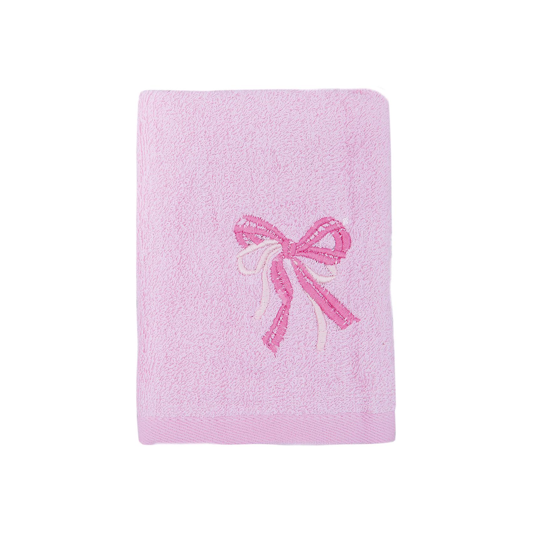 Полотенце махровое Бантик 35*70, Любимый дом, розовый