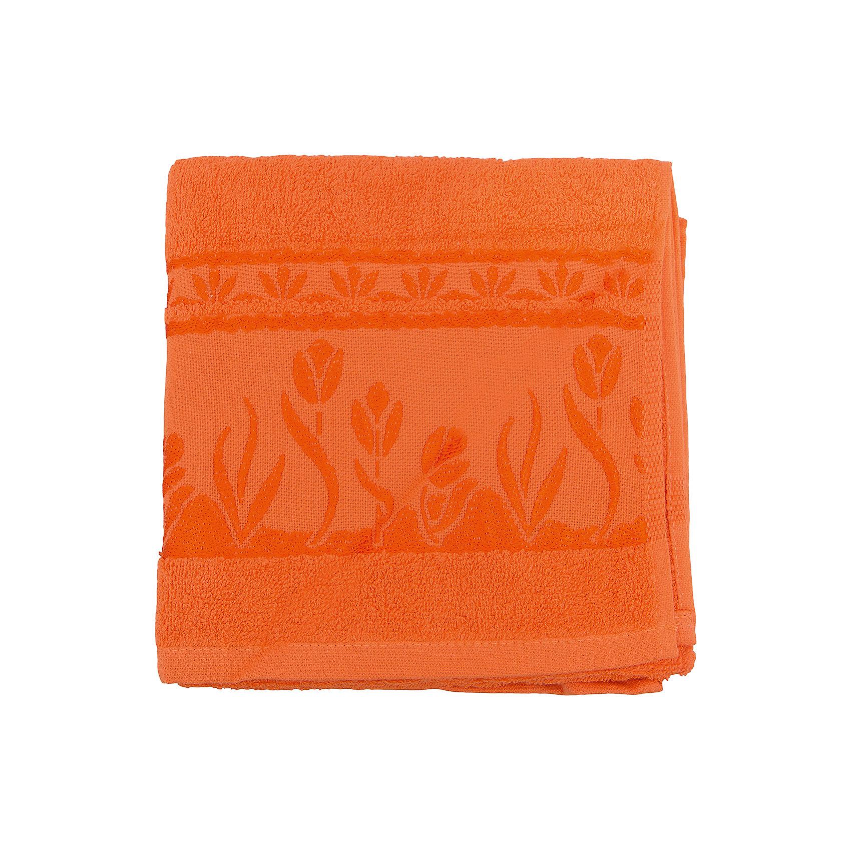 Полотенце махровое Tulips 50*100, Португалия, оранжевый