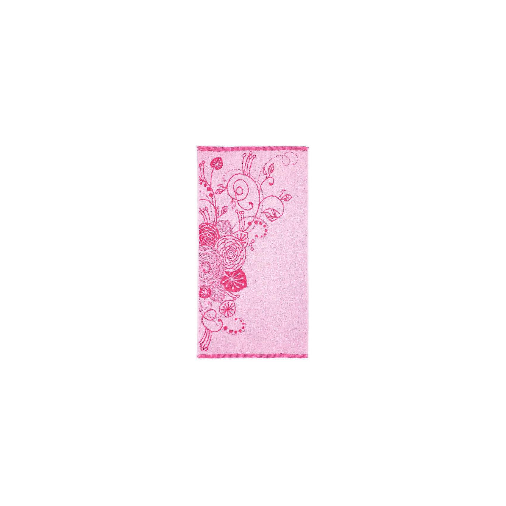 Любимый дом Полотенце махровое Лютики 50*90, Любимый дом, розовый