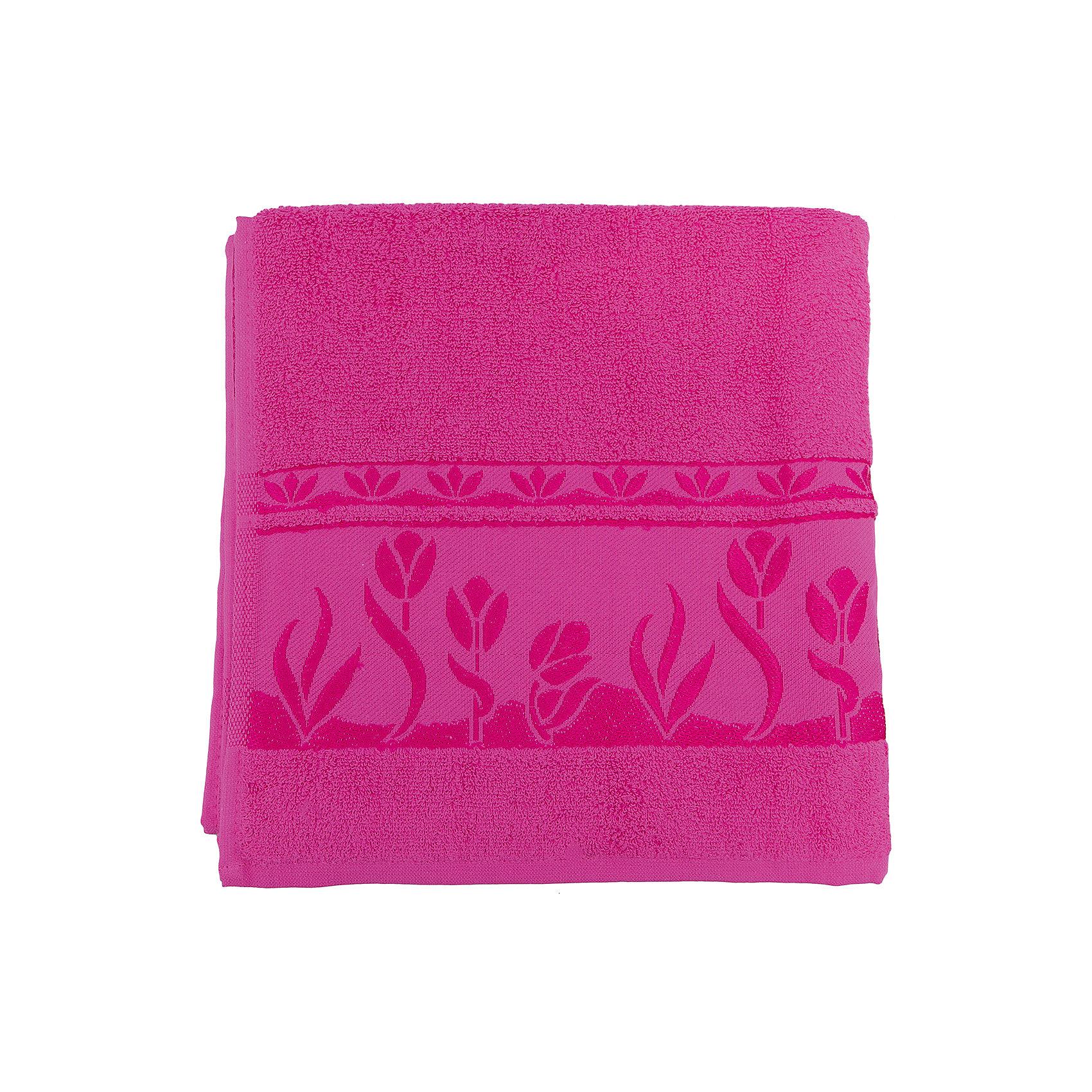 Полотенце махровое Tulips 70*140, Португалия, ярко-розовыйTulips - махровое полотенце из натурального качественного хлопка. Она хорошо впитает влагу и подарит вам ощущение мягкости после водных процедур. Полотенце износостойкое и хорошо сохраняет цвет. Украшено жаккардовым узором. <br><br>Дополнительная информация:<br>Материал: 100% хлопок<br>Плотность: 500 г/м2<br>Размер: 70х140 см<br>Цвет: ярко-розовый<br>Торговая марка: Португалия<br><br>Вы можете приобрести махровое полотенце Tulips  в нашем интернет-магазине.<br><br>Ширина мм: 500<br>Глубина мм: 500<br>Высота мм: 200<br>Вес г: 400<br>Возраст от месяцев: 0<br>Возраст до месяцев: 144<br>Пол: Унисекс<br>Возраст: Детский<br>SKU: 5010987