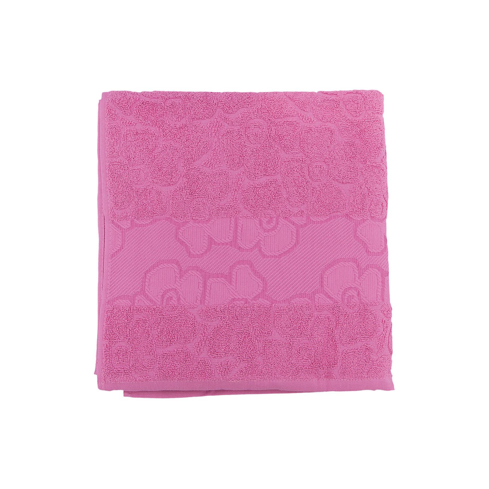 Португалия Полотенце махровое Viola 70*140, Португалия, розовый полотенце махровое 70 140 см авангард